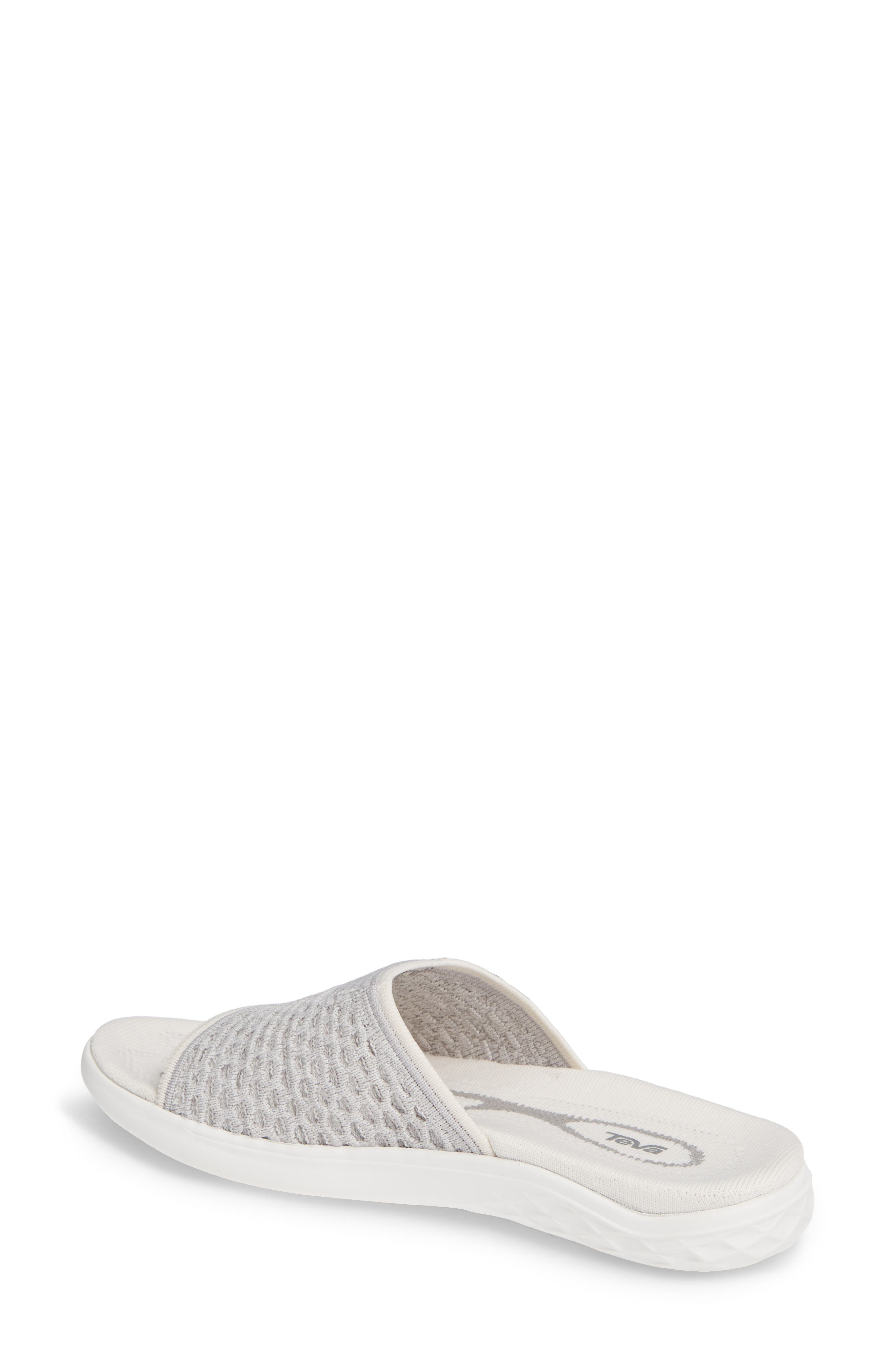 Terra Float 2 Knit Slide Sandal,                             Alternate thumbnail 2, color,                             BRIGHT WHITE FABRIC