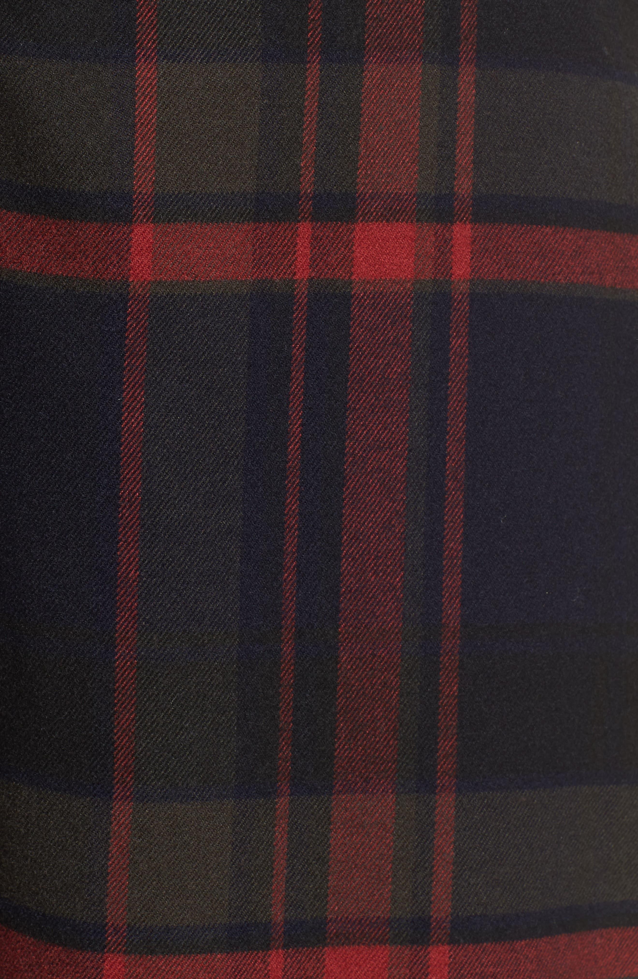 High Rise Plaid Crop Pants,                             Alternate thumbnail 7, color,                             NAVY MARITIME JESSA PLAID