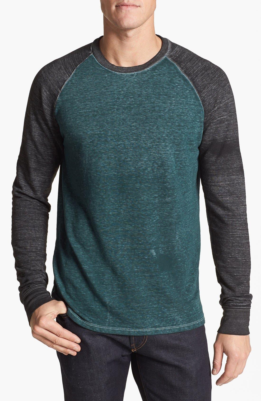 Washed Raglan Sleeve Sweatshirt,                             Main thumbnail 4, color,