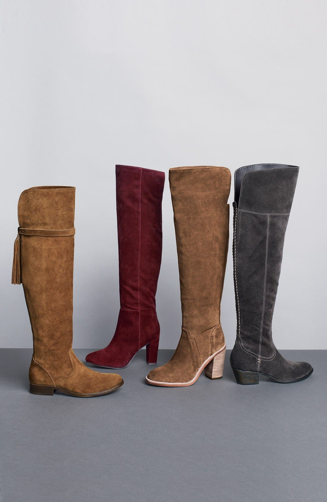 'Noble' Over the Knee Boot,                             Alternate thumbnail 6, color,                             001