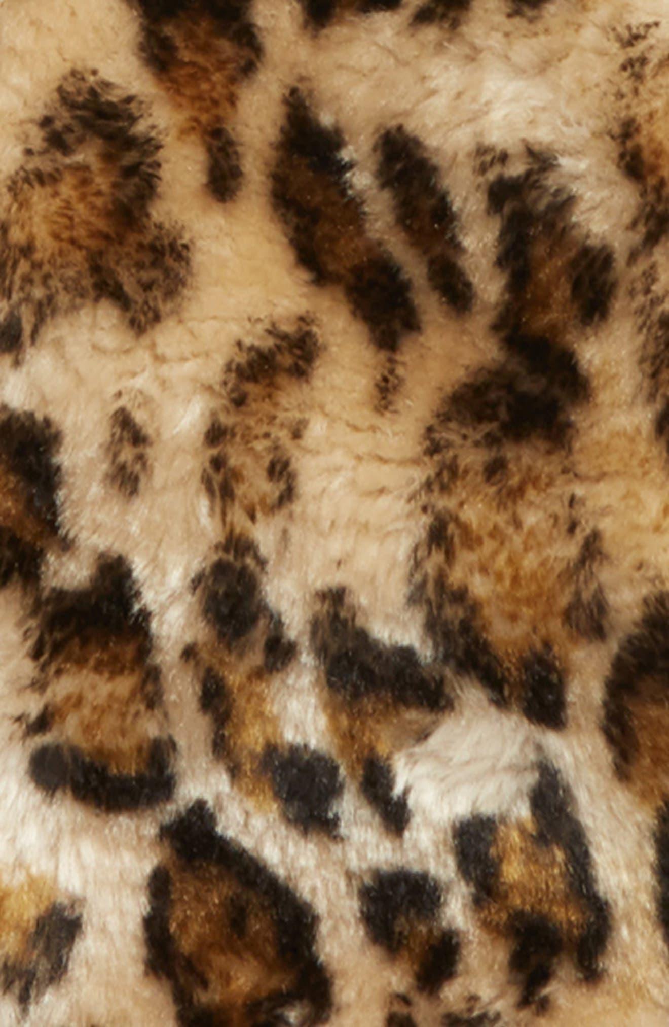Animal Print Faux Fur Jacket,                             Alternate thumbnail 2, color,                             TAN DALE LEOPARD