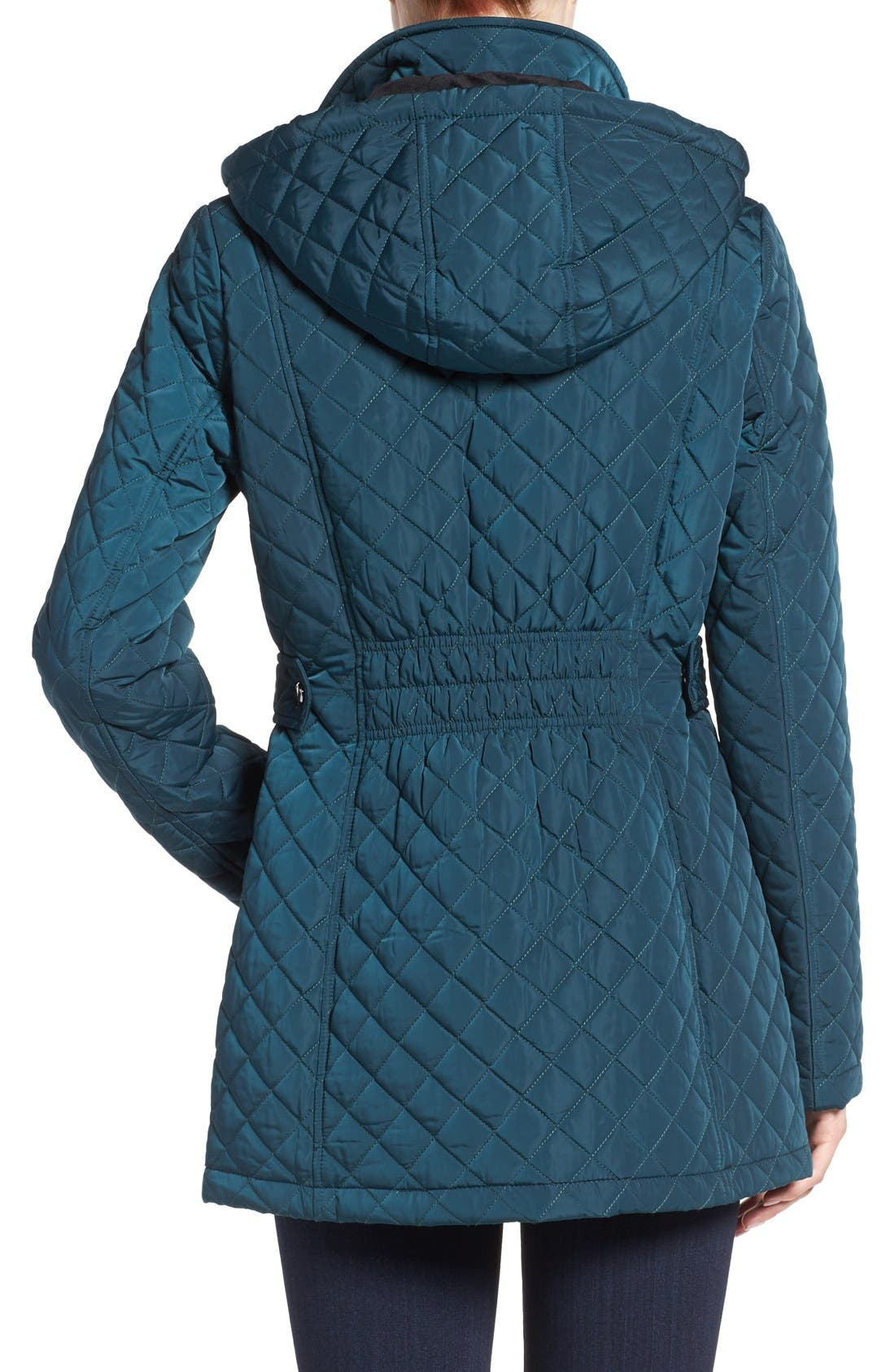 Hooded Quilted Jacket,                             Alternate thumbnail 19, color,