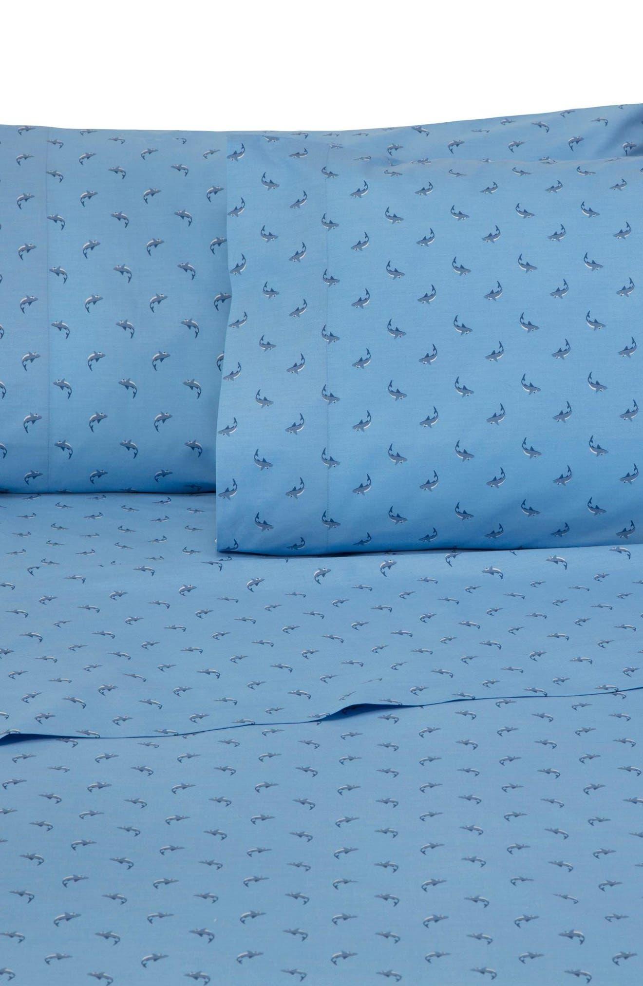 Shark Attack Pillowcases,                             Main thumbnail 1, color,