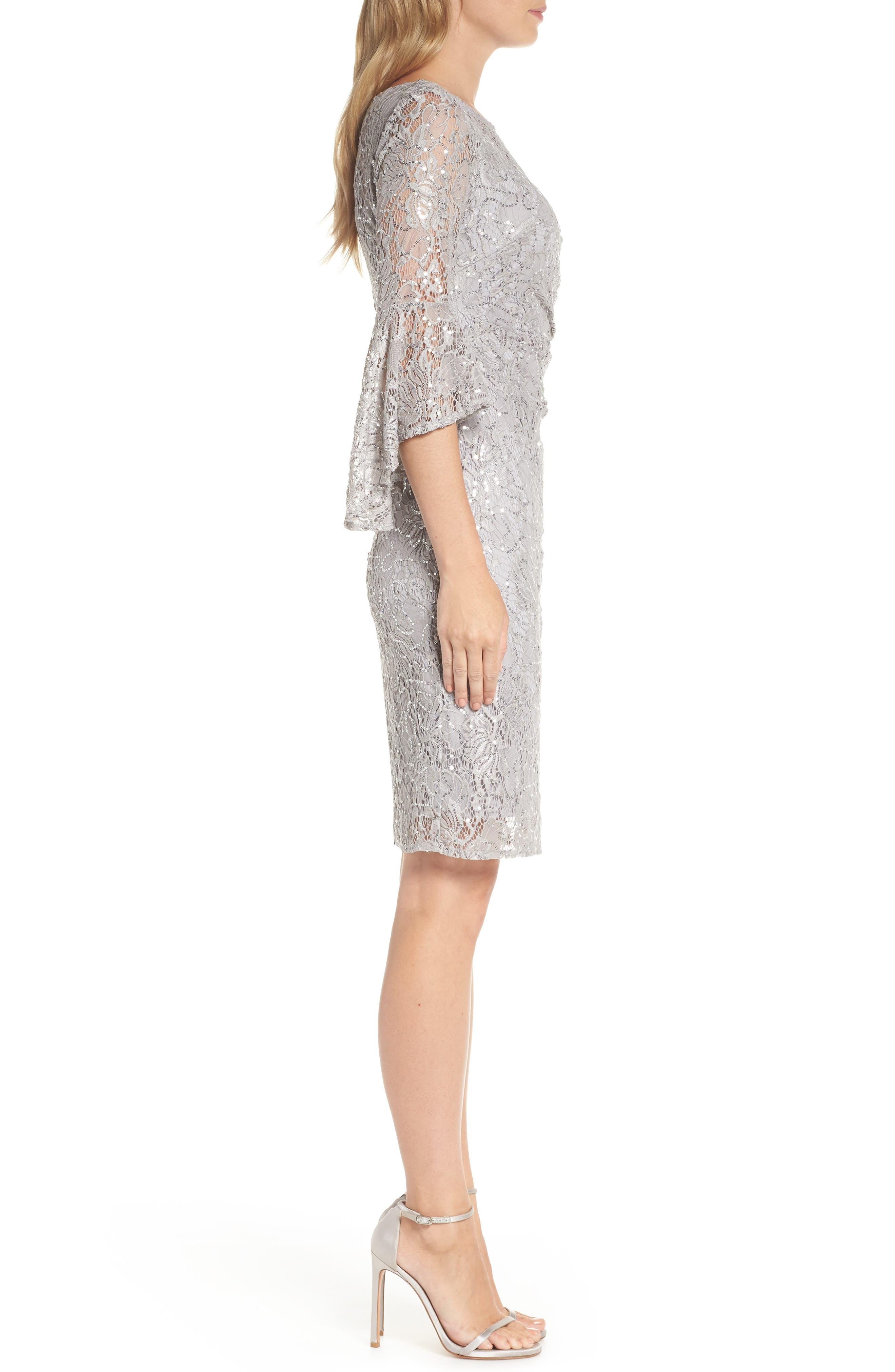 MORGAN & CO.,                             Lace Sheath Dress,                             Alternate thumbnail 4, color,                             040