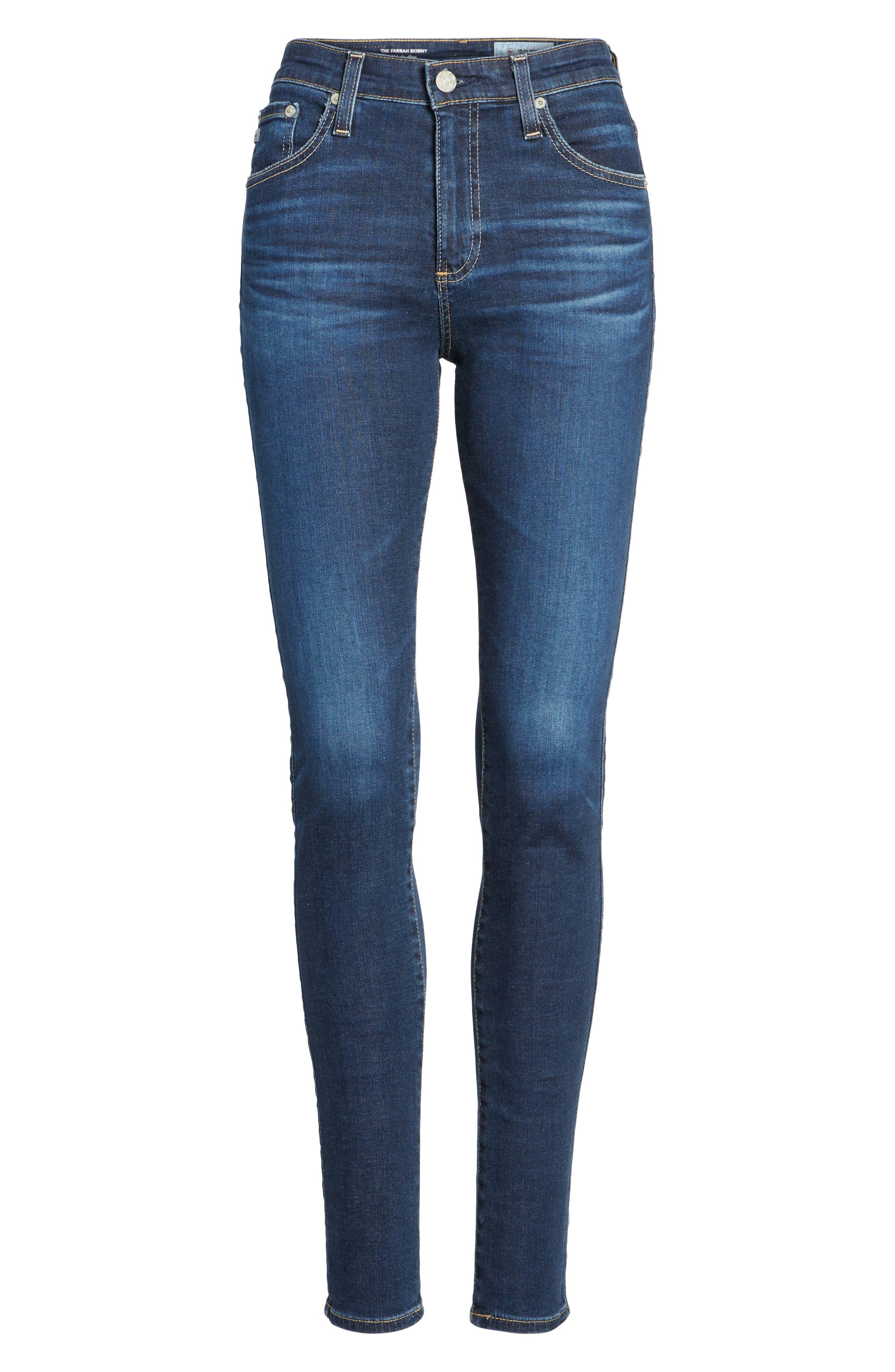 'The Farrah' High Rise Skinny Jeans,                             Alternate thumbnail 52, color,