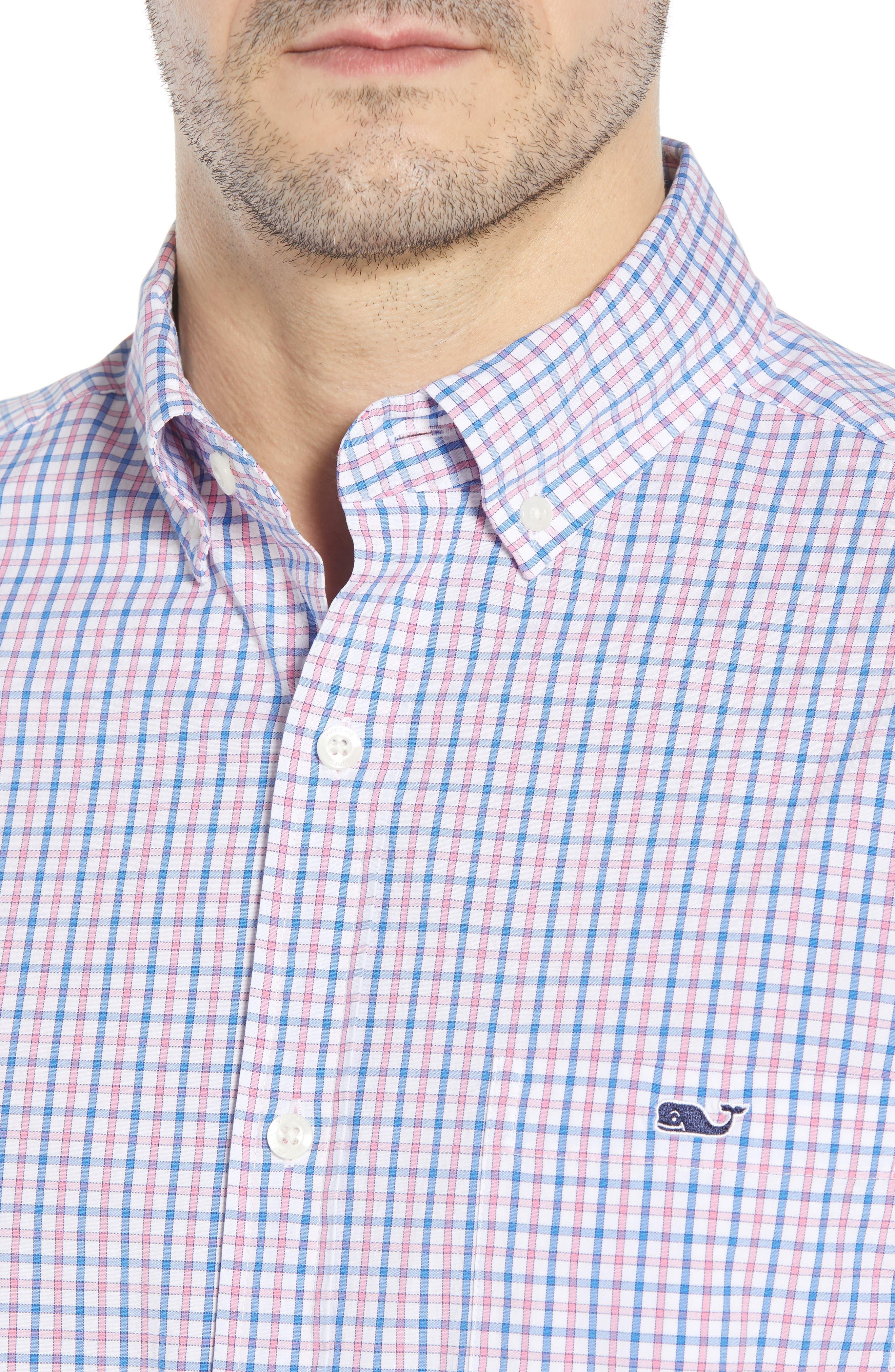 Clark Cove Tucker Classic Fit Check Sport Shirt,                             Alternate thumbnail 7, color,