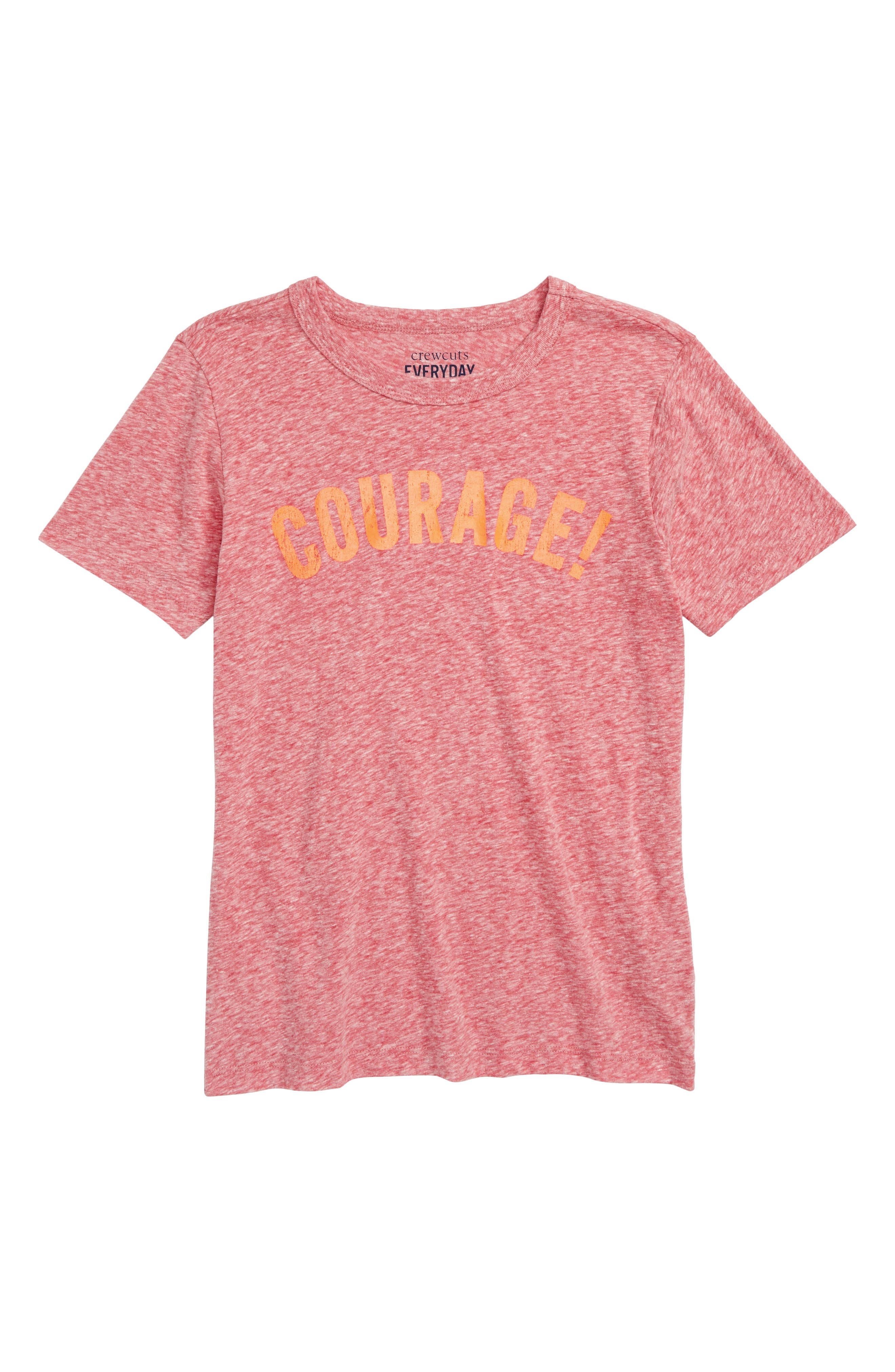 Courage Graphic T-Shirt,                             Main thumbnail 1, color,                             600