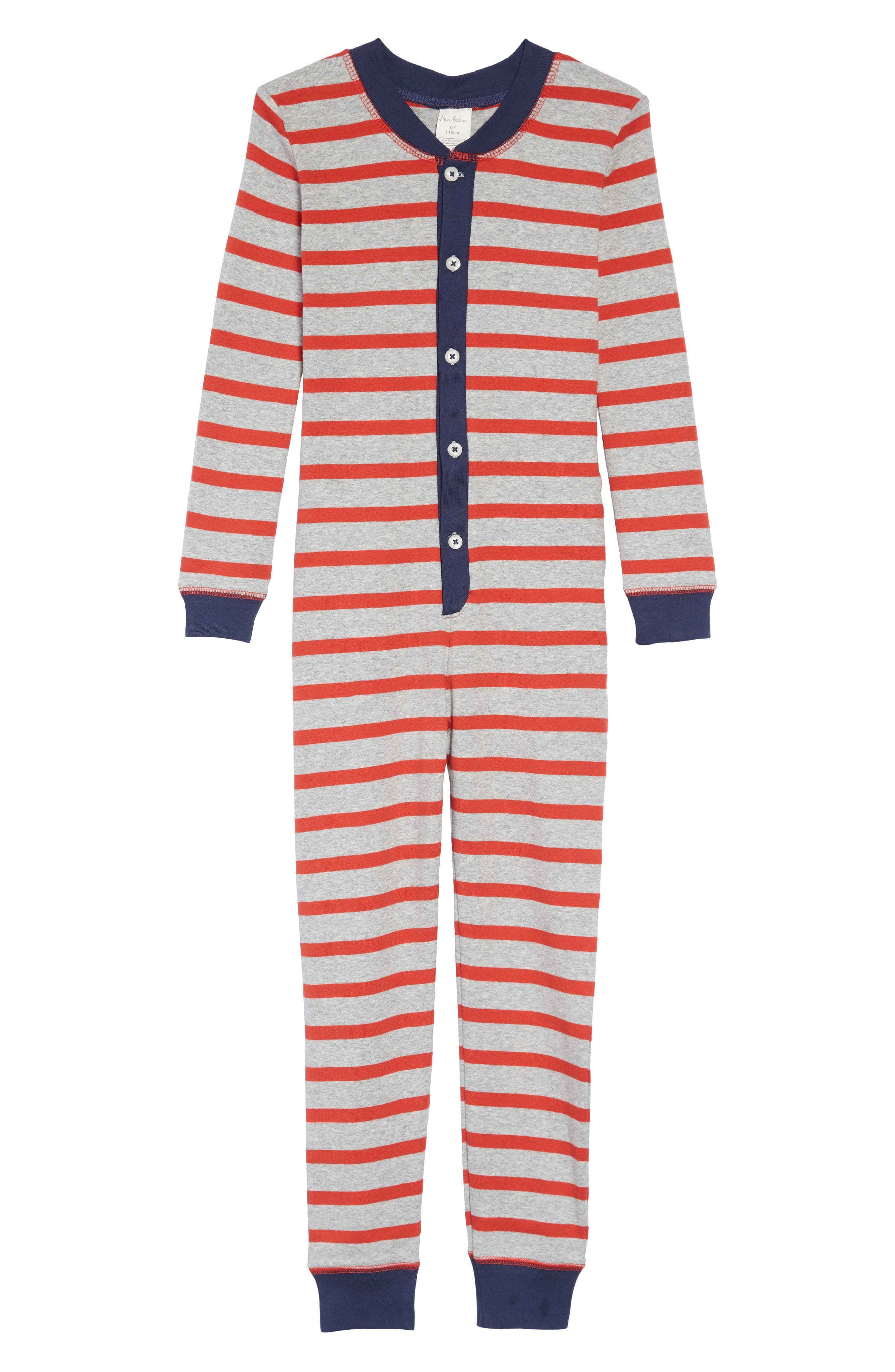 MINI BODEN Cosy Sleep Fitted One-Piece Pajamas, Main, color, 054