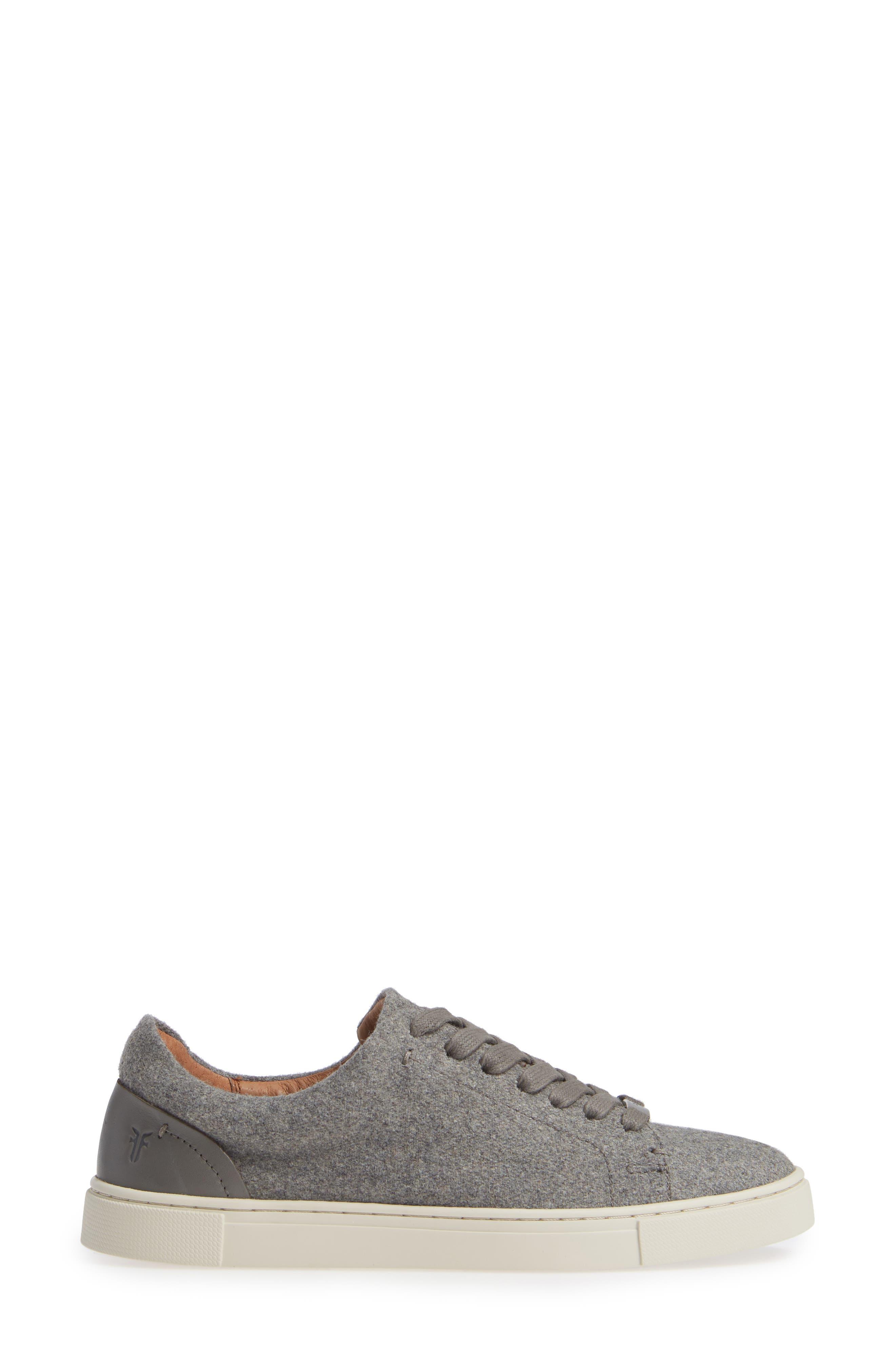 Ivy Sneaker,                             Alternate thumbnail 3, color,                             GREY WOOL FABRIC