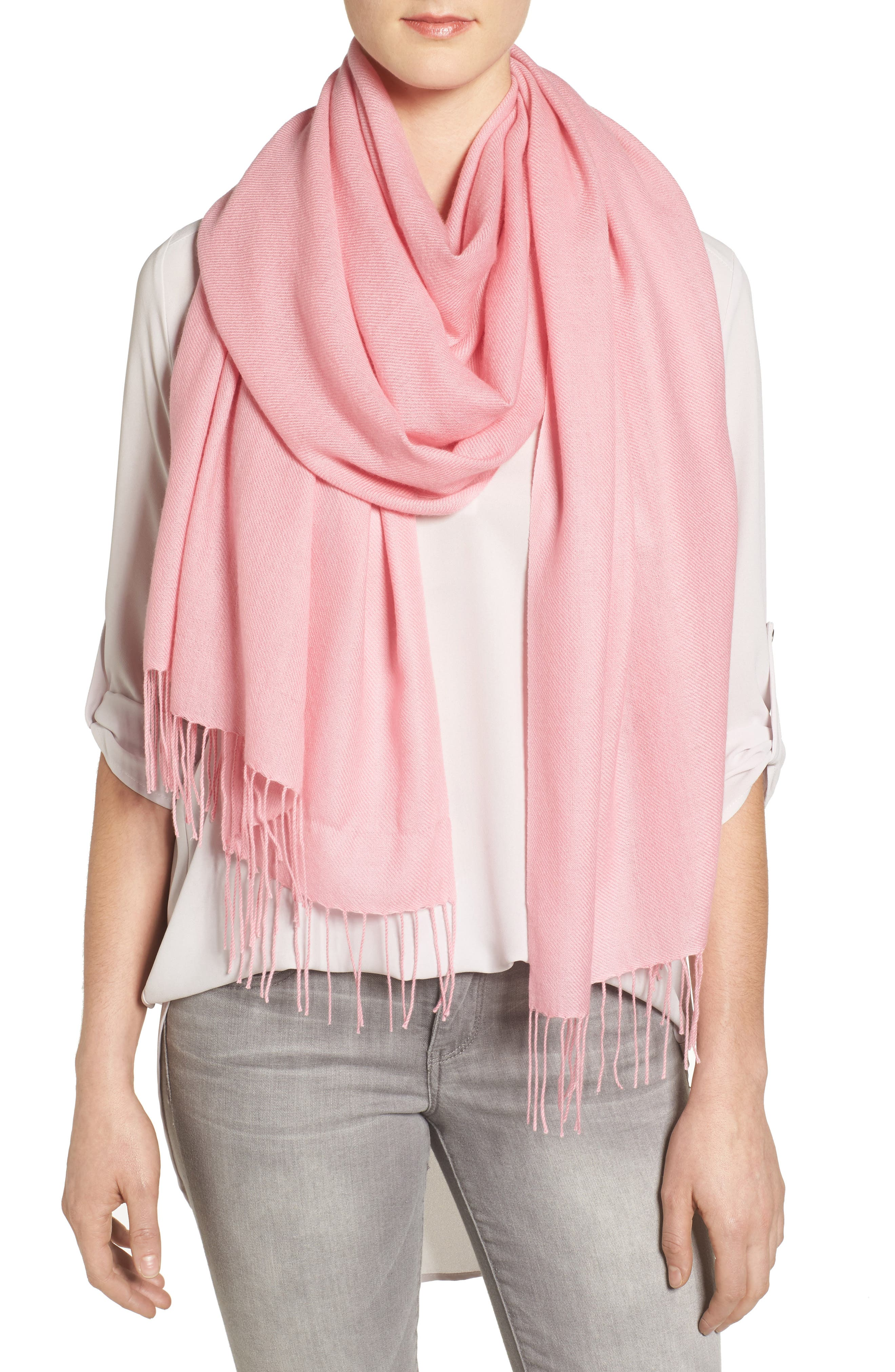 Tissue Weight Wool & Cashmere Scarf,                             Alternate thumbnail 138, color,