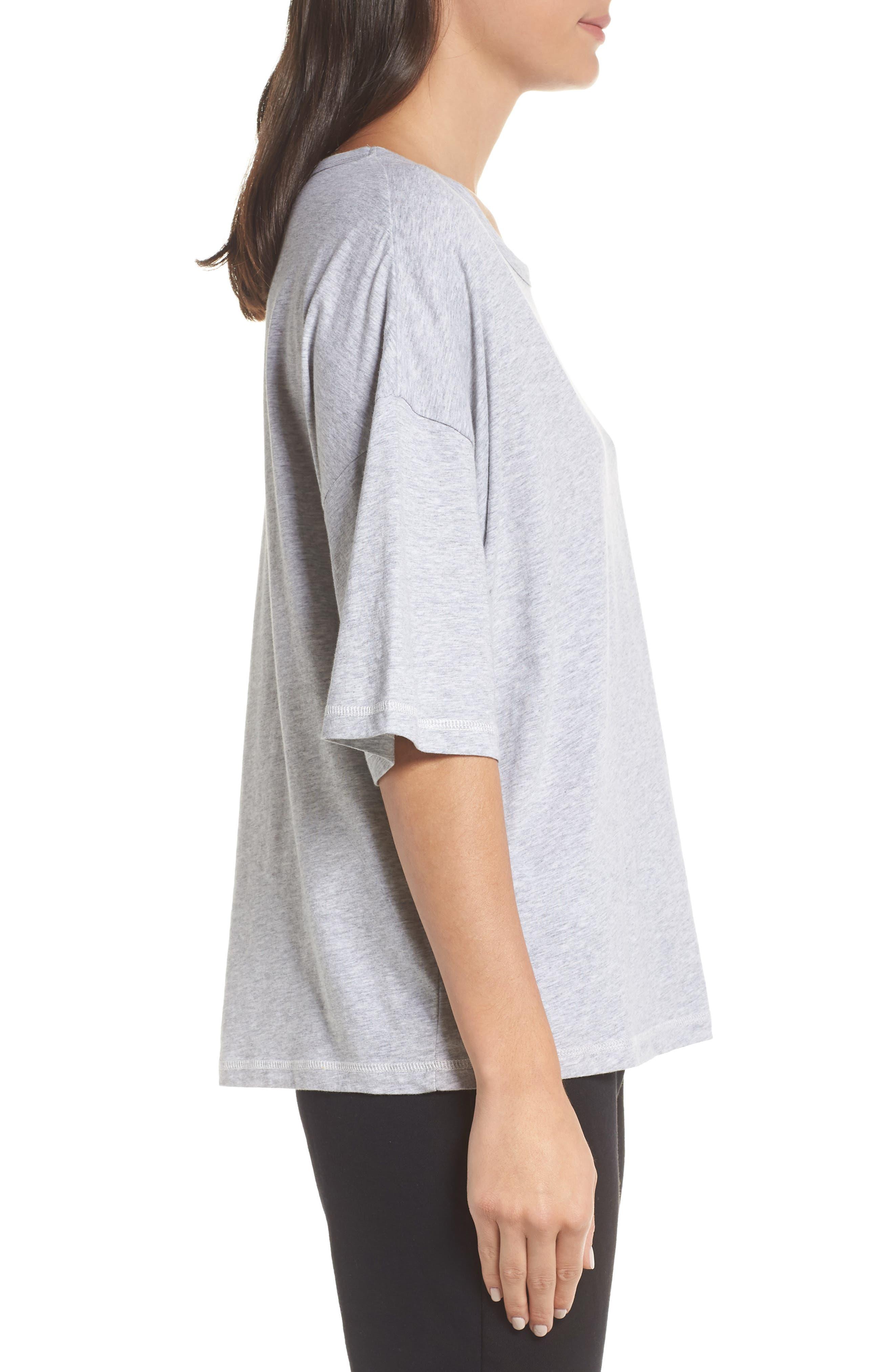 Soph Lounge Shirt,                             Alternate thumbnail 3, color,                             SMOKE MARLE