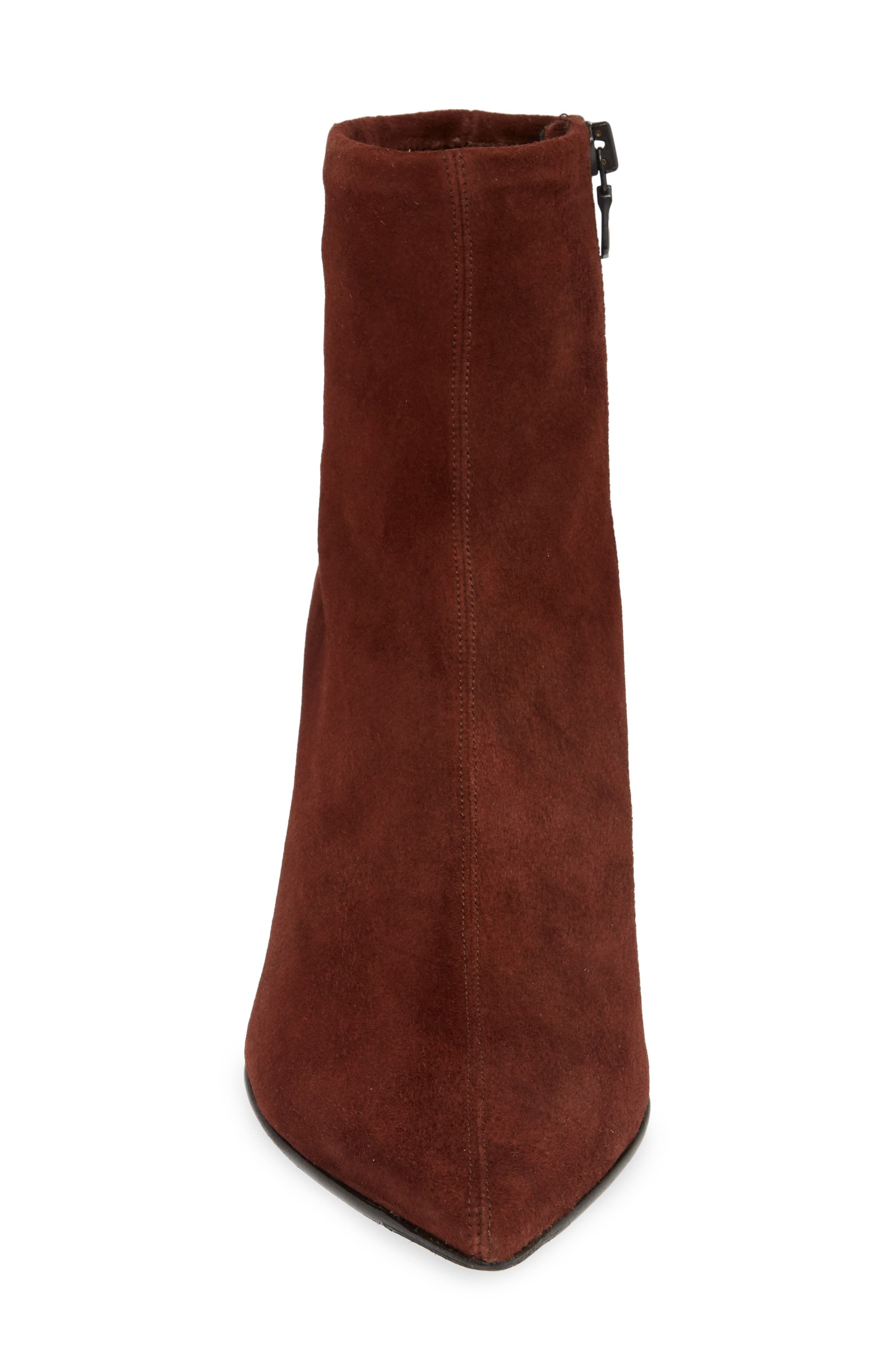 Beha Stretch Bootie,                             Alternate thumbnail 4, color,                             MAHOGANY SUEDE