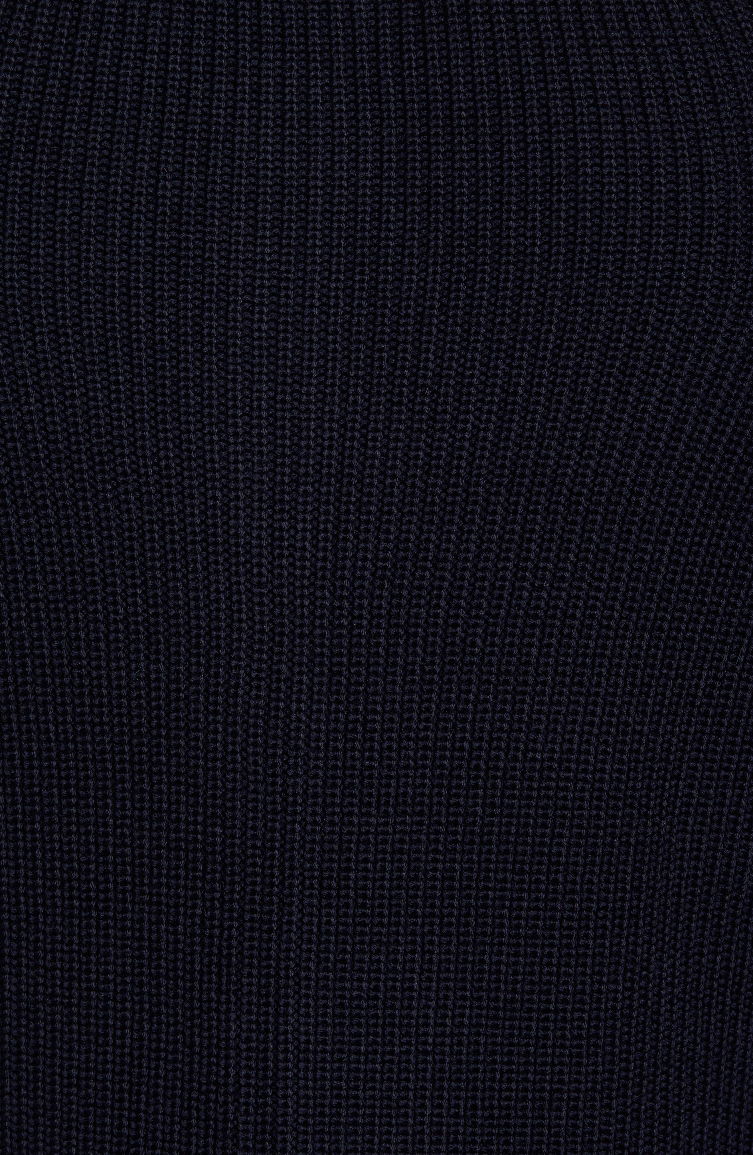 Shaker Stitch Wool Zip Cardigan,                             Alternate thumbnail 5, color,                             412