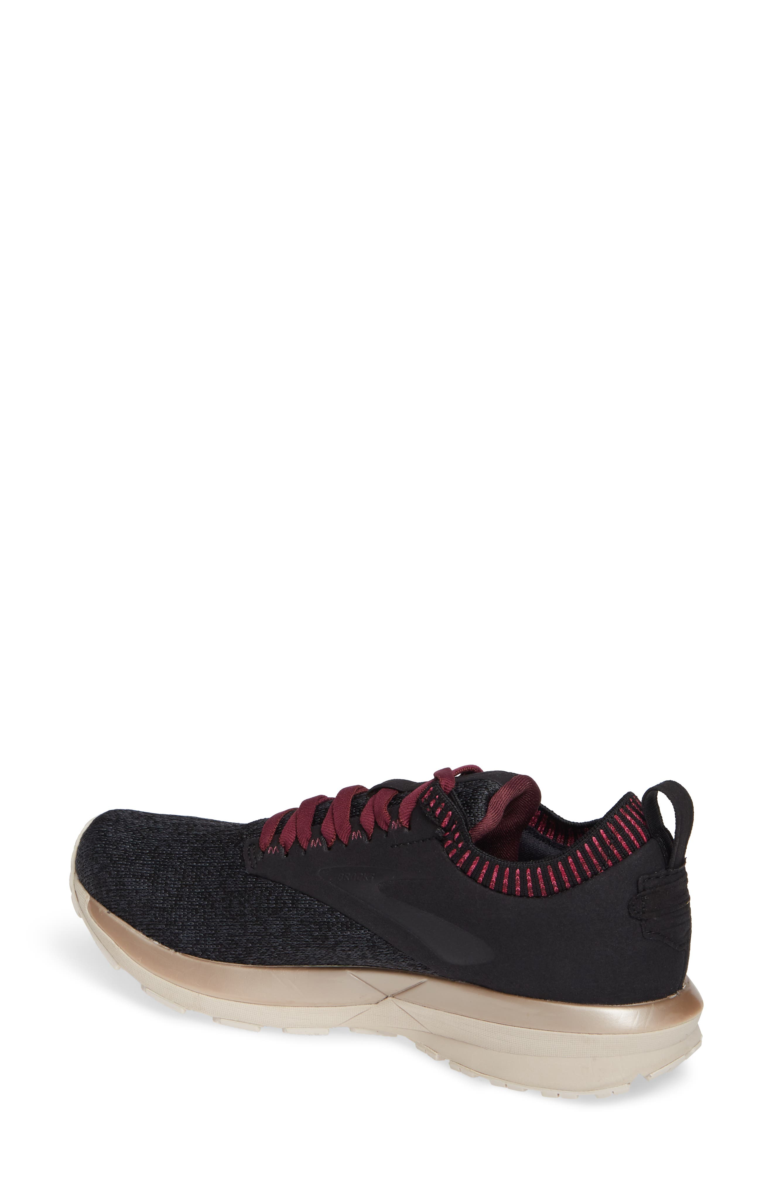 Ricochet LE Running Shoe,                             Alternate thumbnail 2, color,                             BLACK/ GREY/ PINK