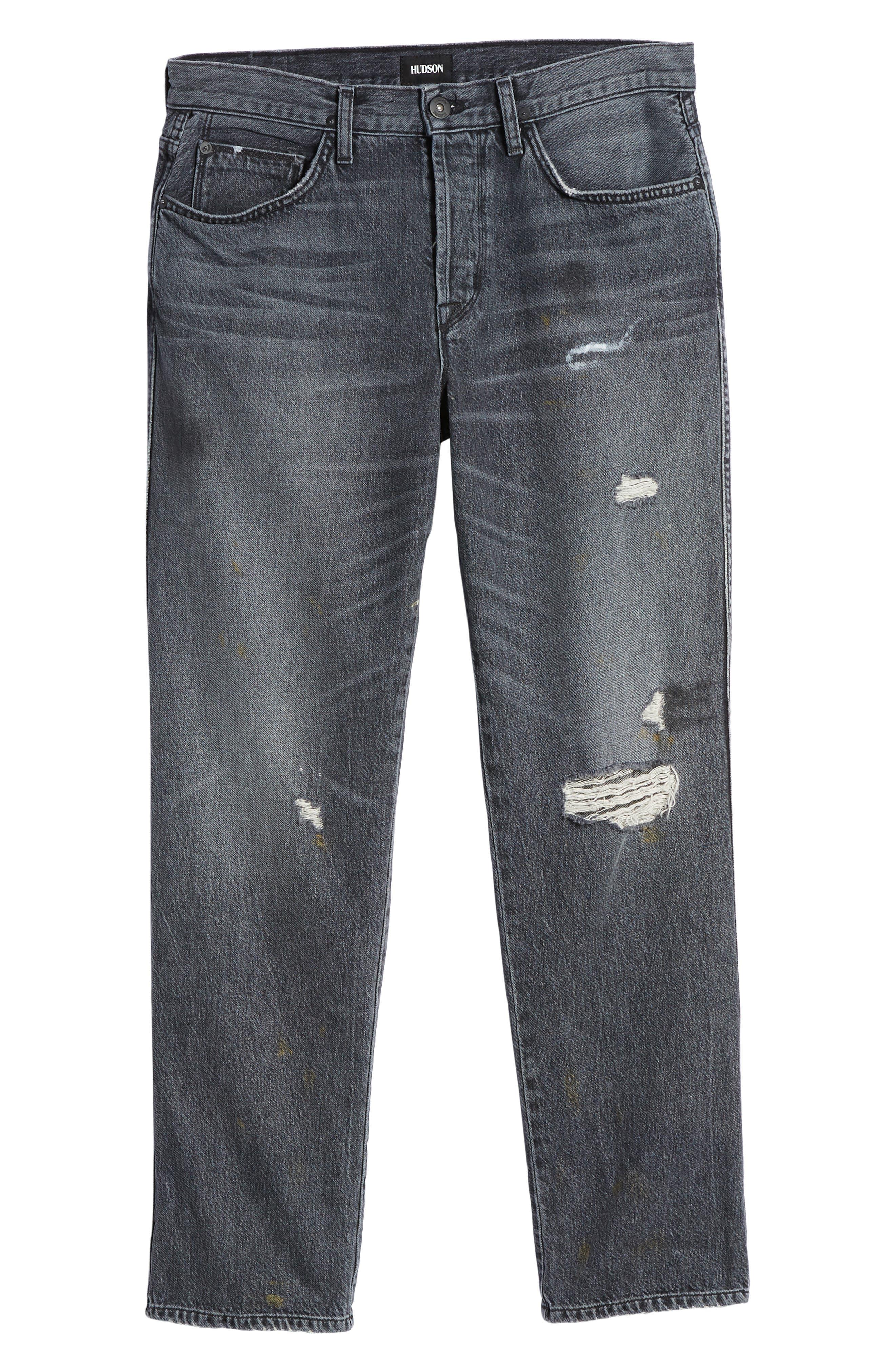 Dixon Straight Leg Jeans,                             Alternate thumbnail 6, color,                             IRON HEAD