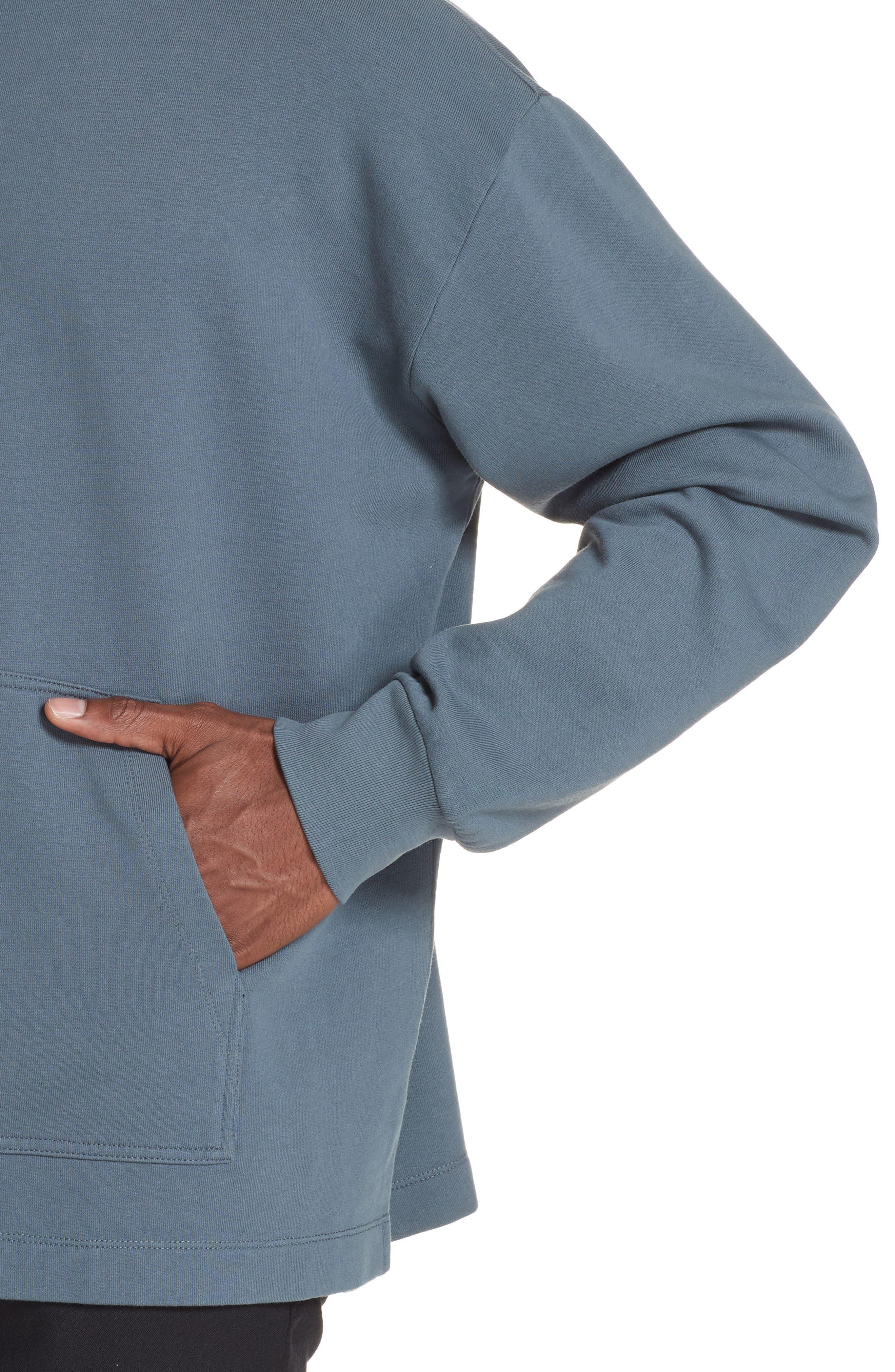 Fleece Knit Sweatshirt,                             Alternate thumbnail 4, color,                             GREY