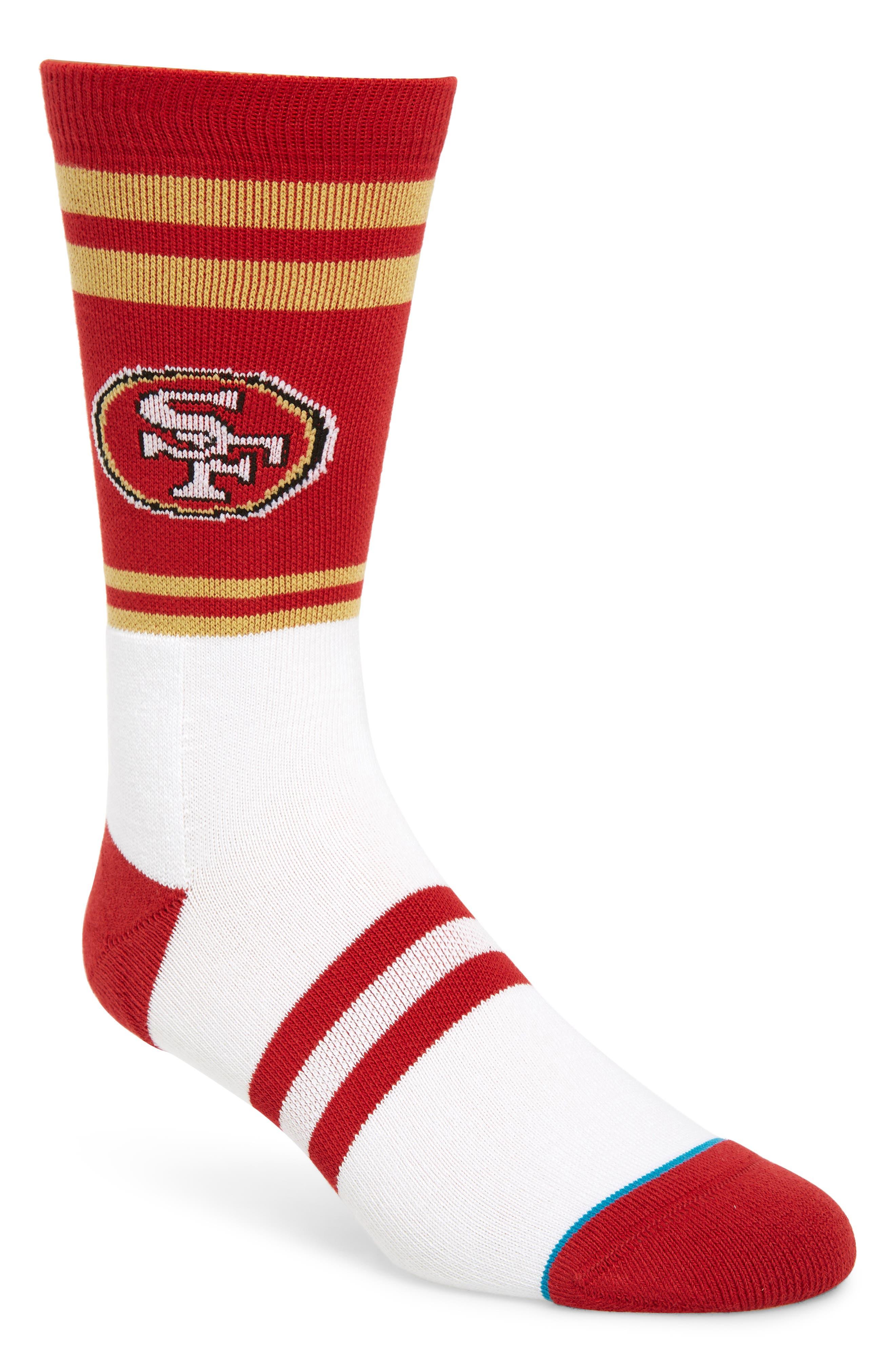 San Francisco 49ers Socks,                             Main thumbnail 1, color,                             RED