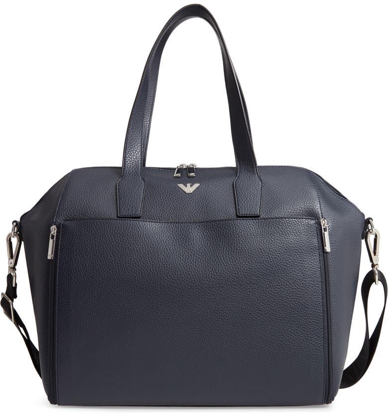 1c1e8afe5ff3 Armani Junior Faux Leather Diaper Bag
