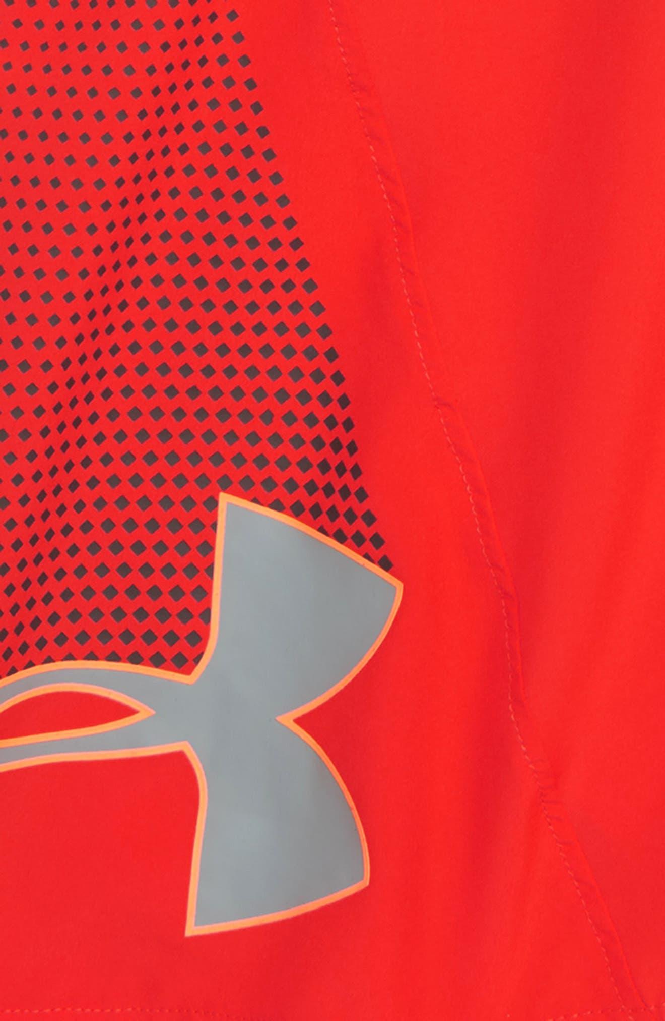 Evolve HeatGear<sup>®</sup> Woven Shorts,                             Alternate thumbnail 2, color,                             RADIO RED/ CHARCOAL
