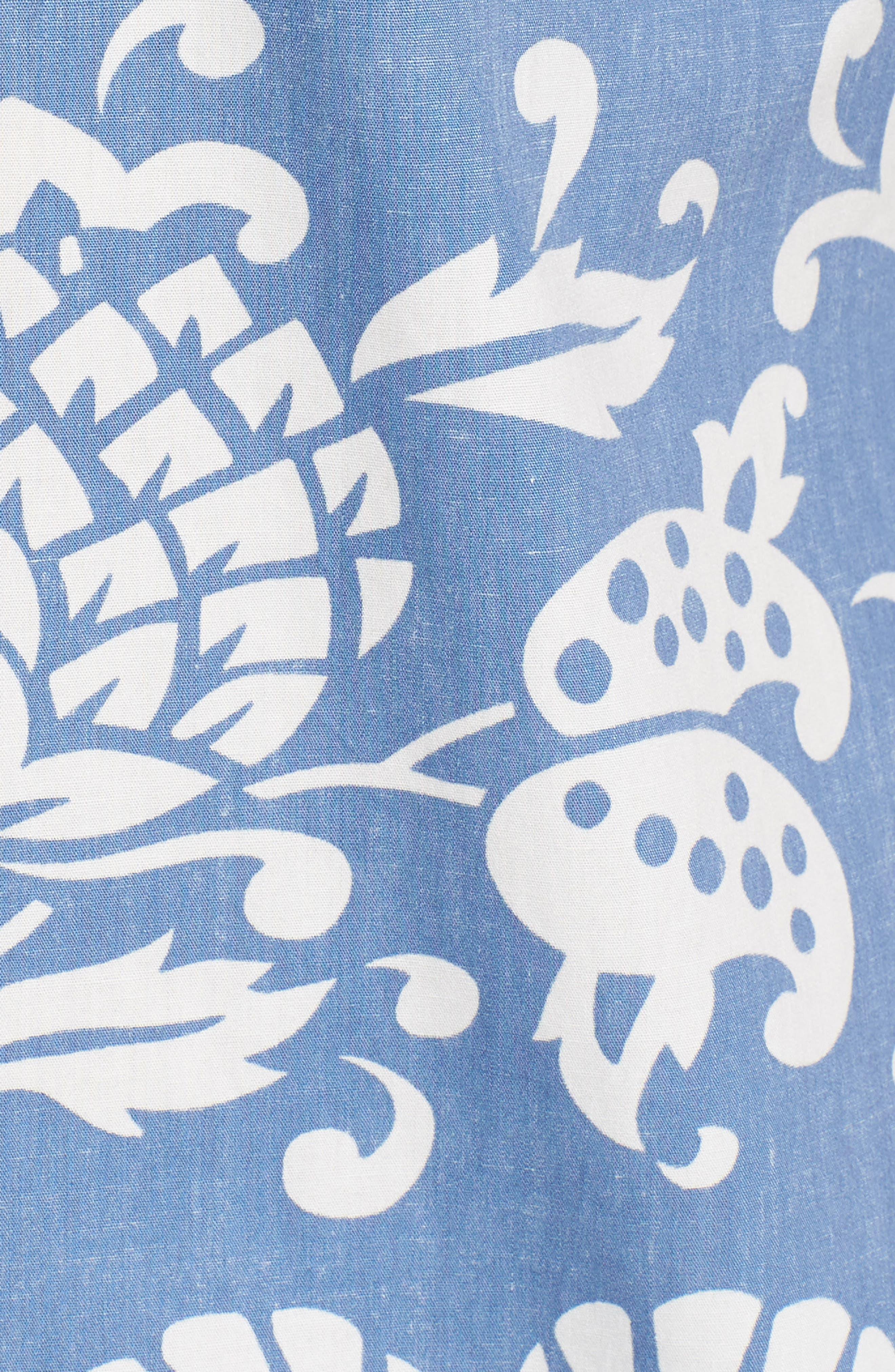 Duke's Pareo Trim Fit Sport Shirt,                             Alternate thumbnail 5, color,                             WAVE
