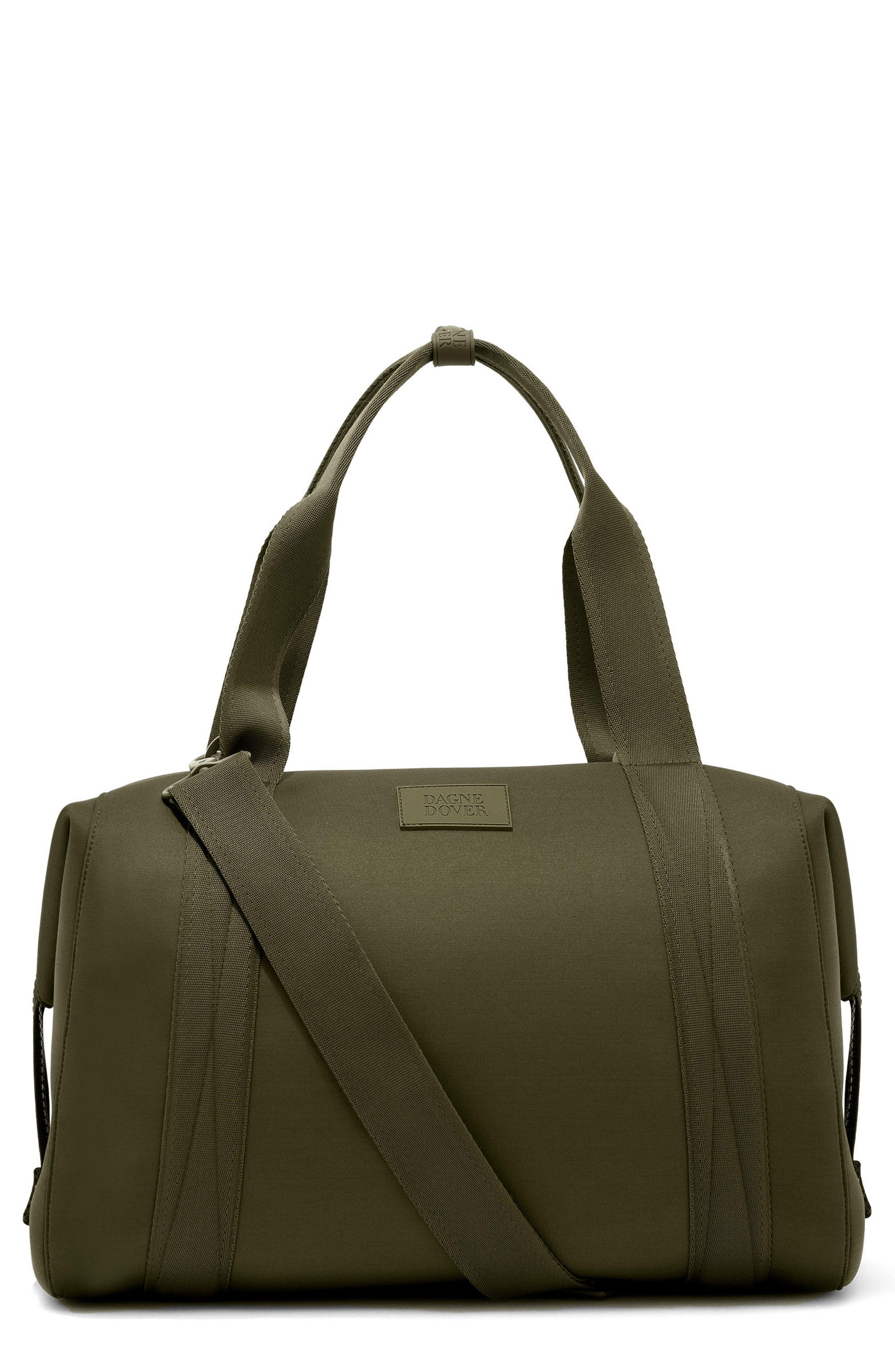 365 Large Landon Neoprene Carryall Duffel Bag,                         Main,                         color, DARK MOSS