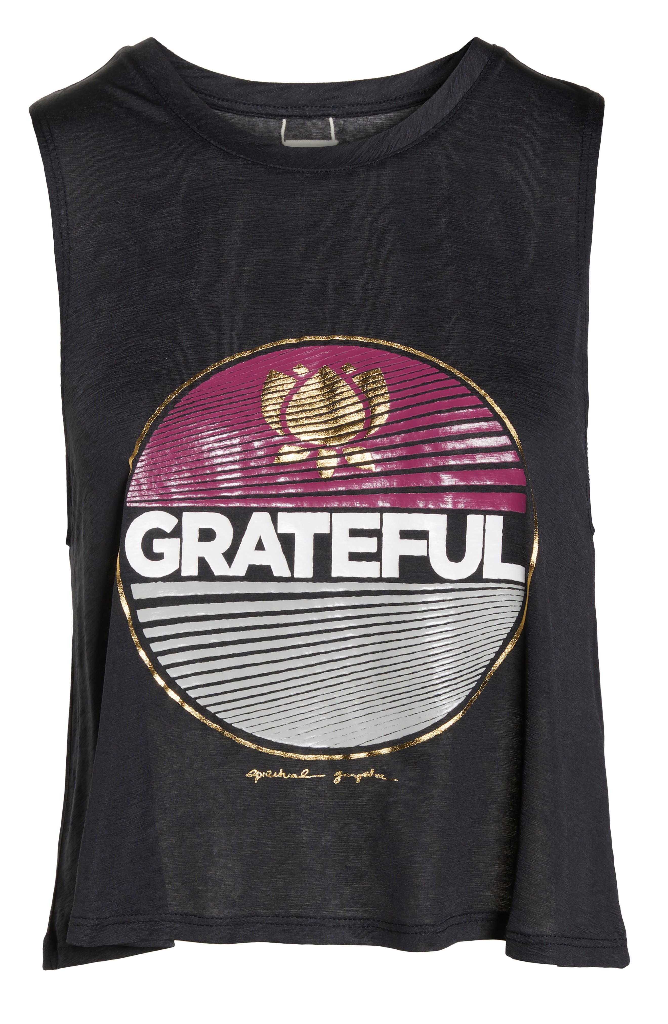 Grateful Crop Tank,                             Alternate thumbnail 7, color,                             VINTAGE BLACK