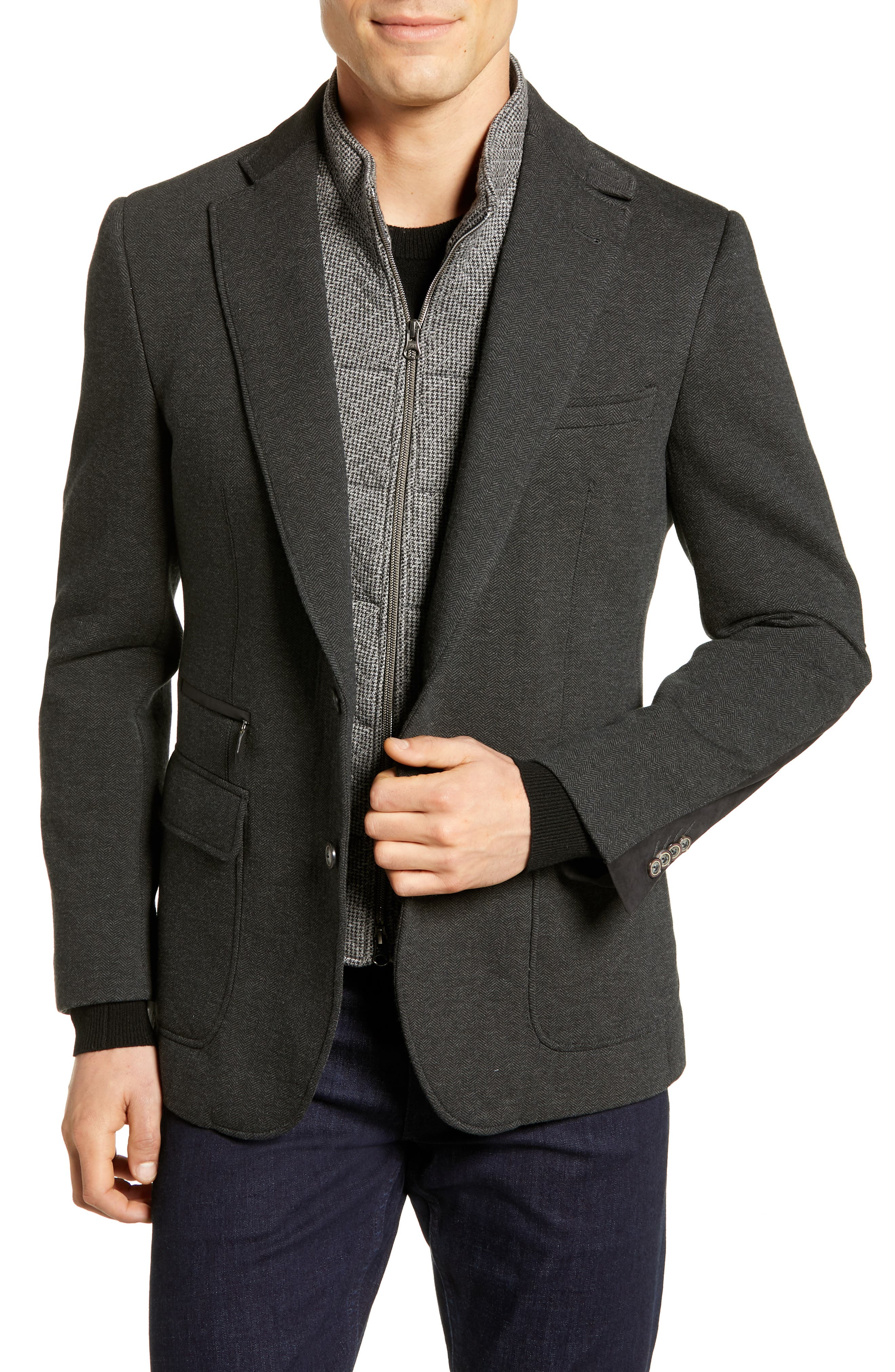 Downhill Tailored Fit Sport Coat,                             Main thumbnail 1, color,                             020