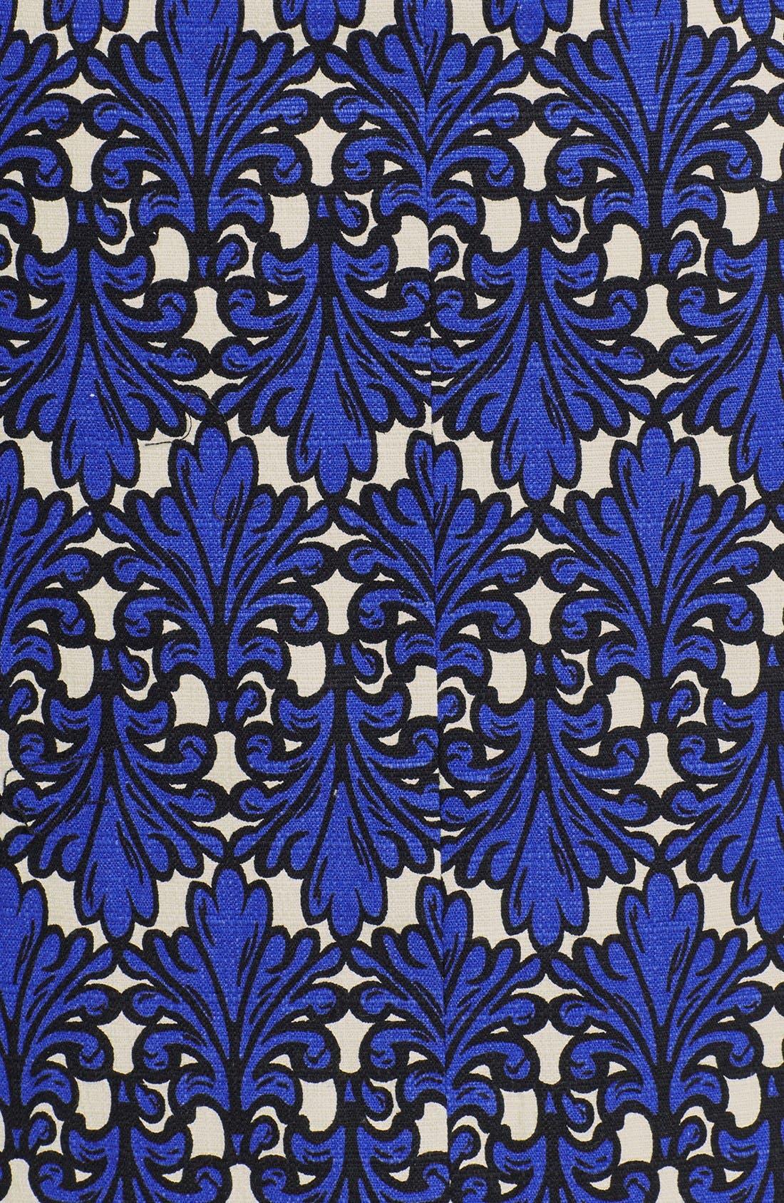 Print Cotton Jacquard Shift Dress,                             Alternate thumbnail 2, color,                             436