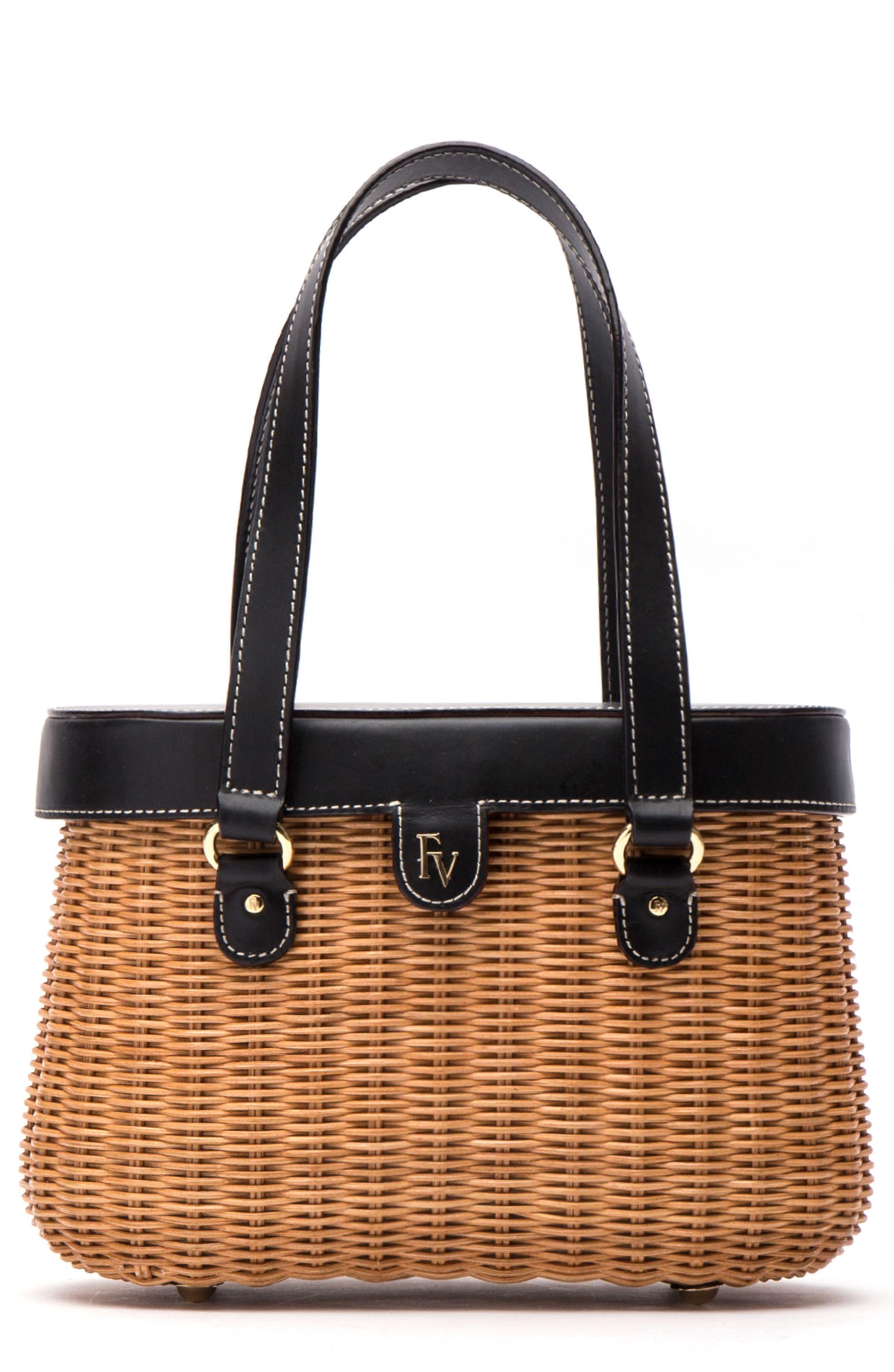 Wicker Basket Shoulder Bag,                         Main,                         color, 250