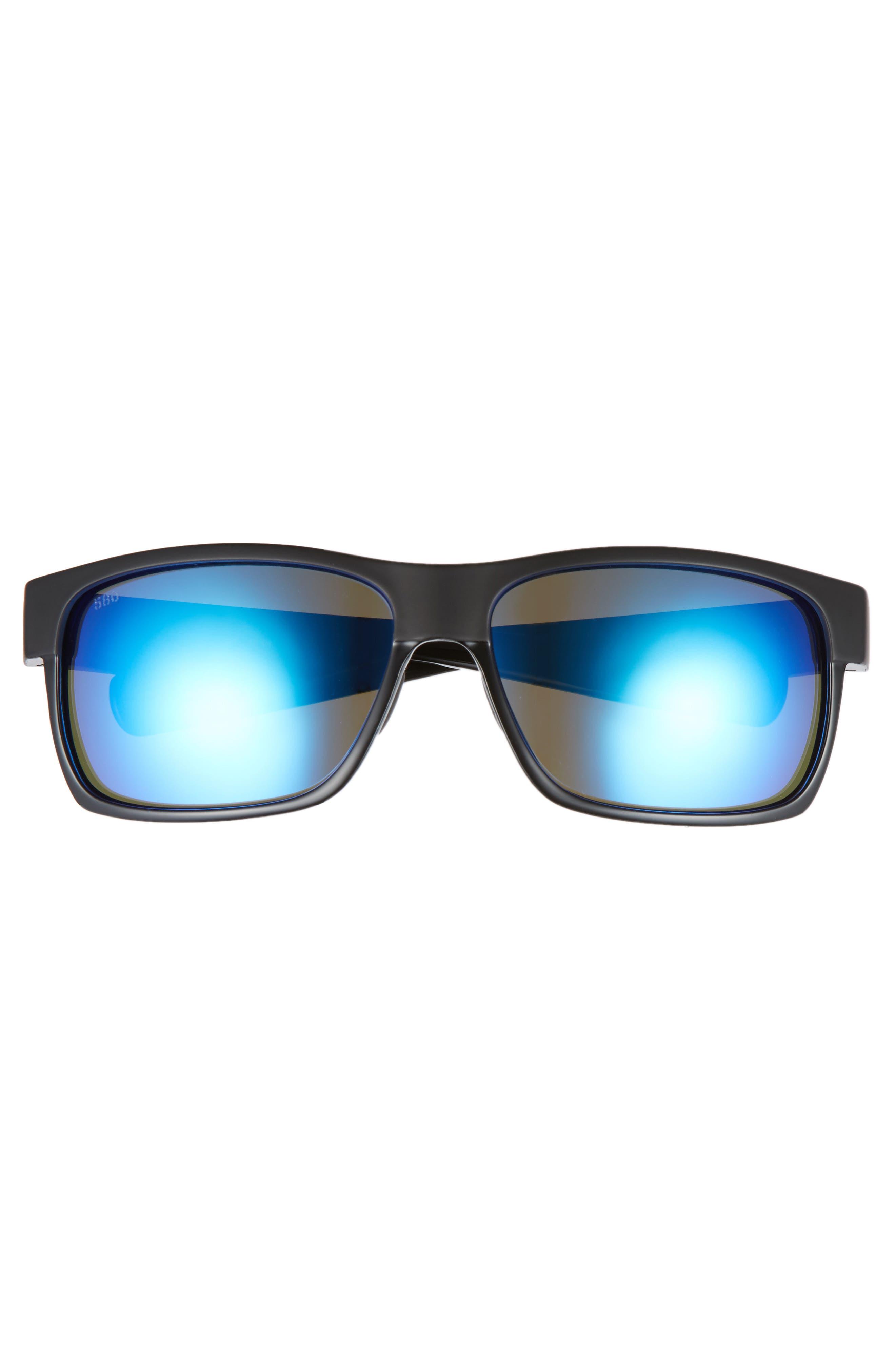 Half Moon 60mm Polarized Sunglasses,                             Alternate thumbnail 2, color,                             001