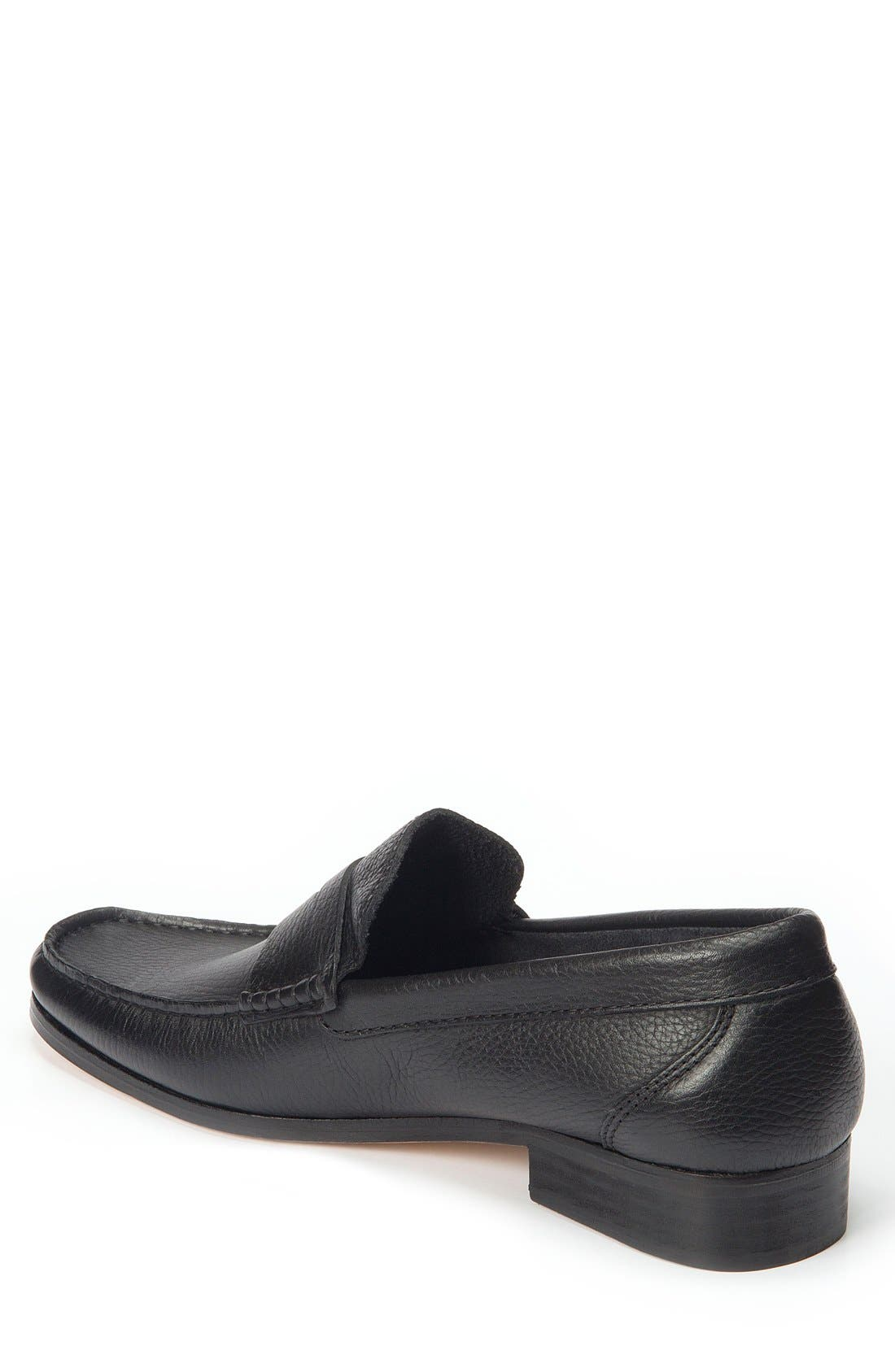 Segovia Penny Loafer,                             Alternate thumbnail 3, color,                             BLACK LEATHER