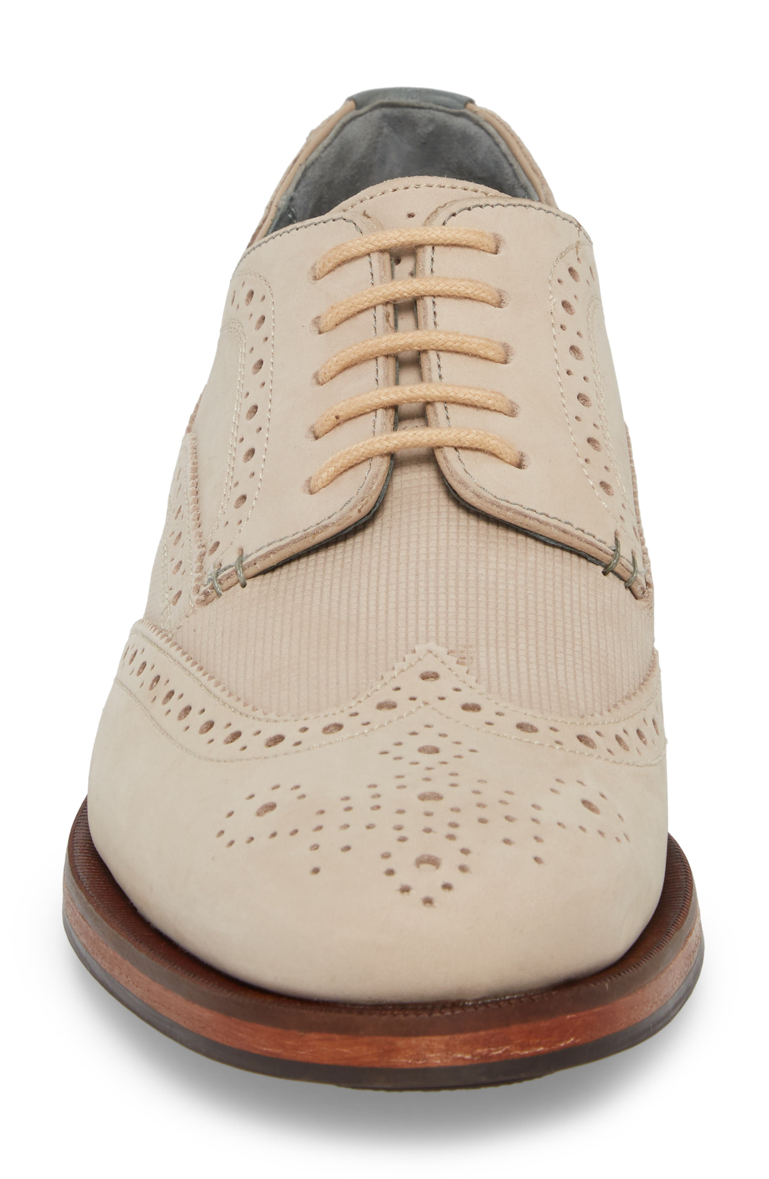 Senapen Wingtip Derby,                             Alternate thumbnail 4, color,                             LIGHT TAN SUEDE