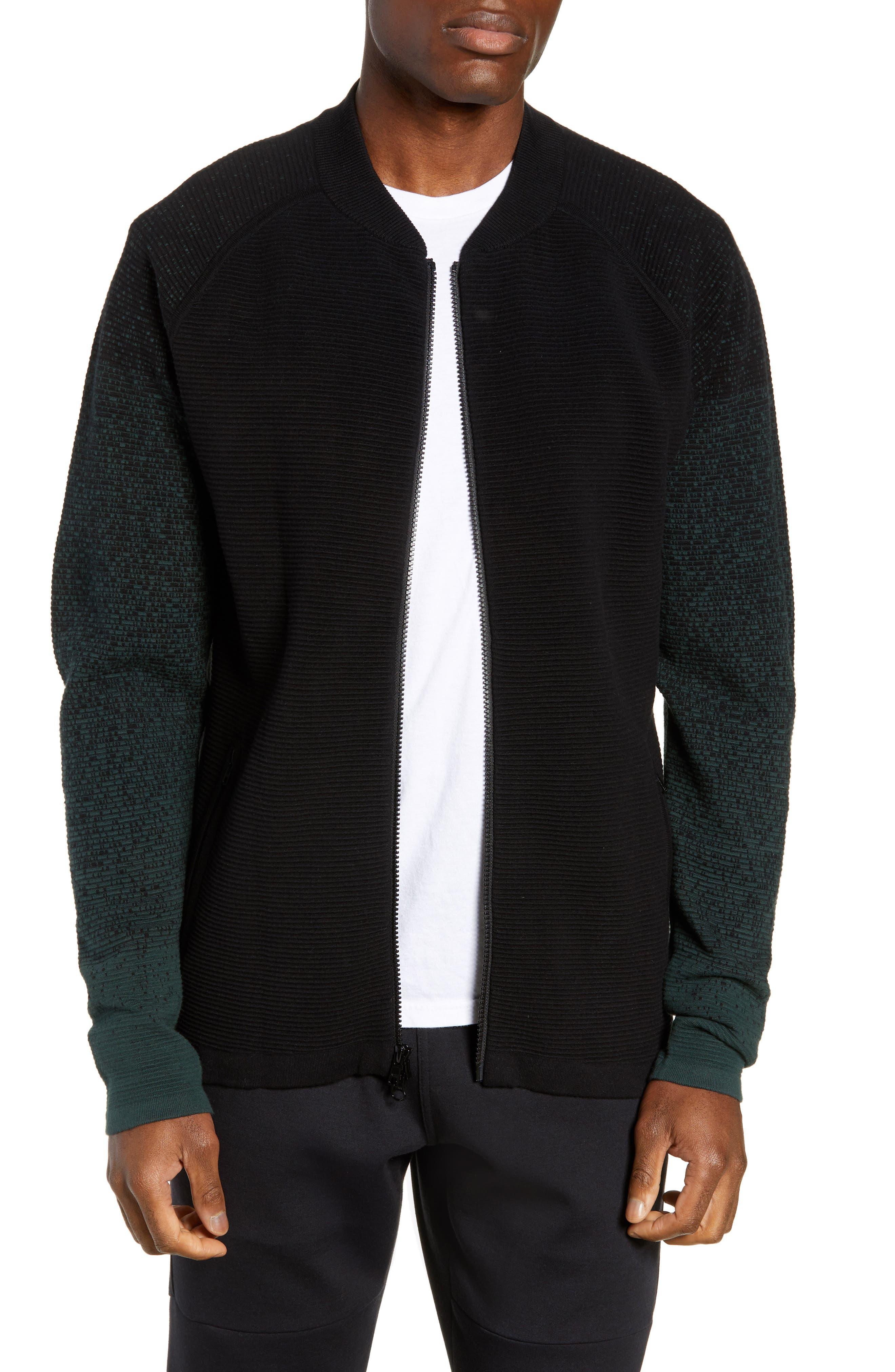 Zella Sweater Fleece Bomber Jacket