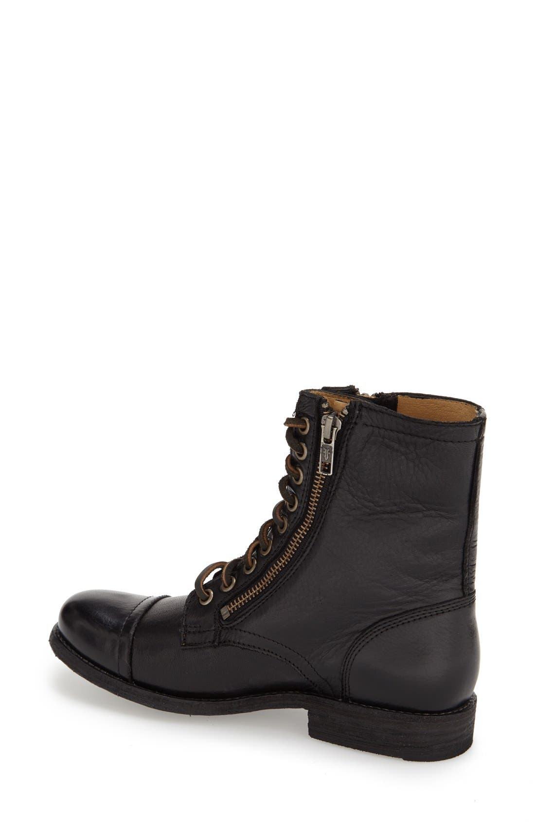 'Tyler' Double Zip Military Boot,                             Alternate thumbnail 2, color,                             001