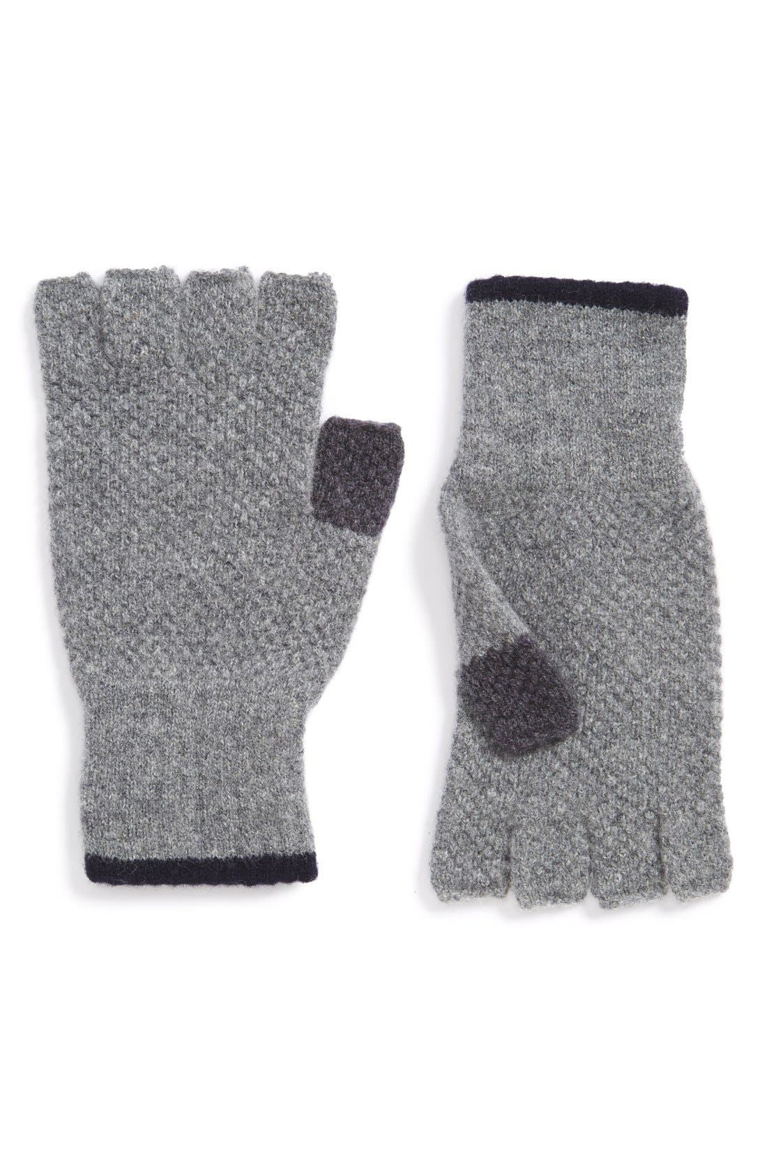 'Canna' Fingerless Wool Gloves, Main, color, 021