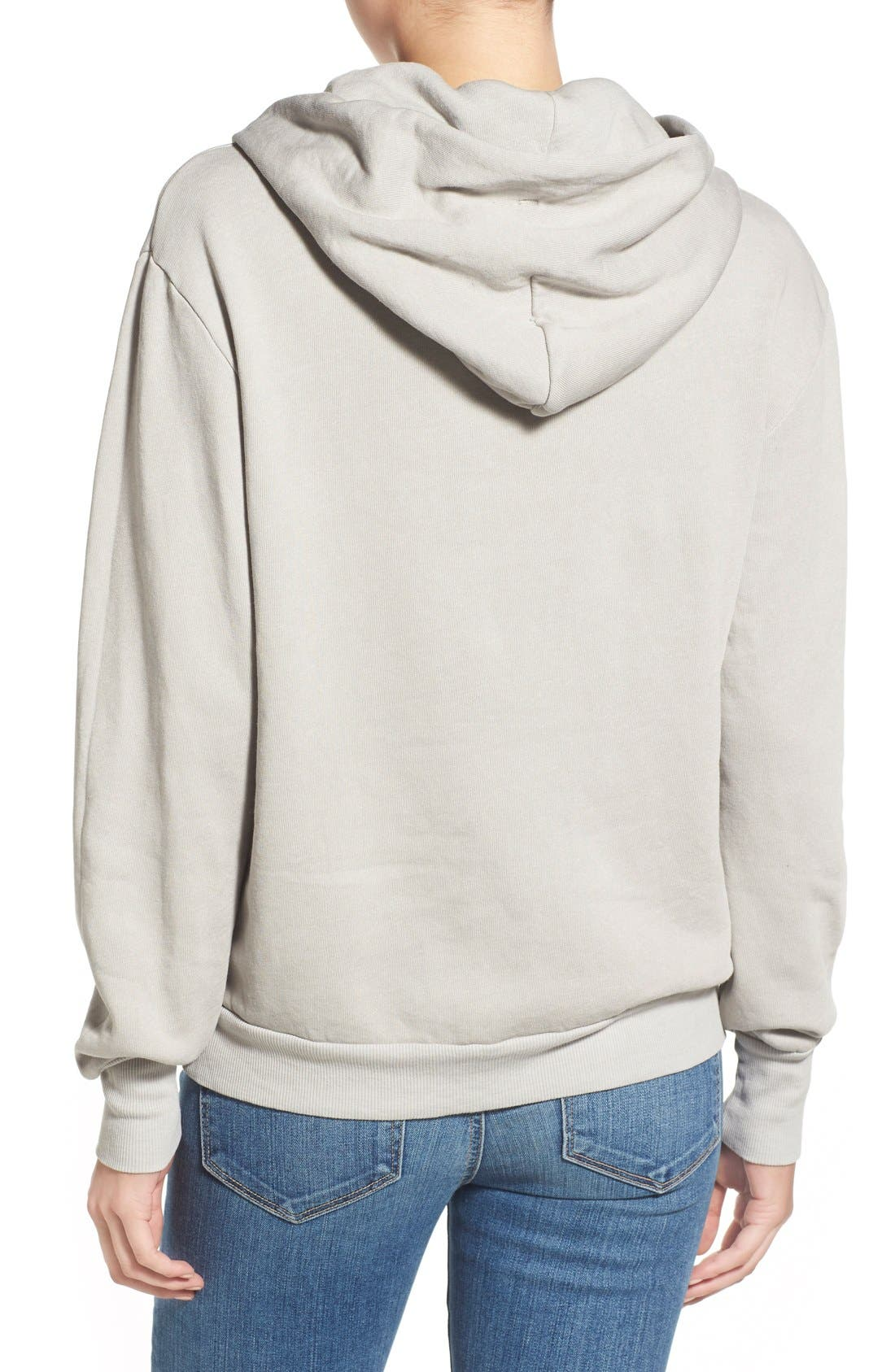 'Please Do Not Disturb' Hooded Sweatshirt,                             Alternate thumbnail 5, color,                             060
