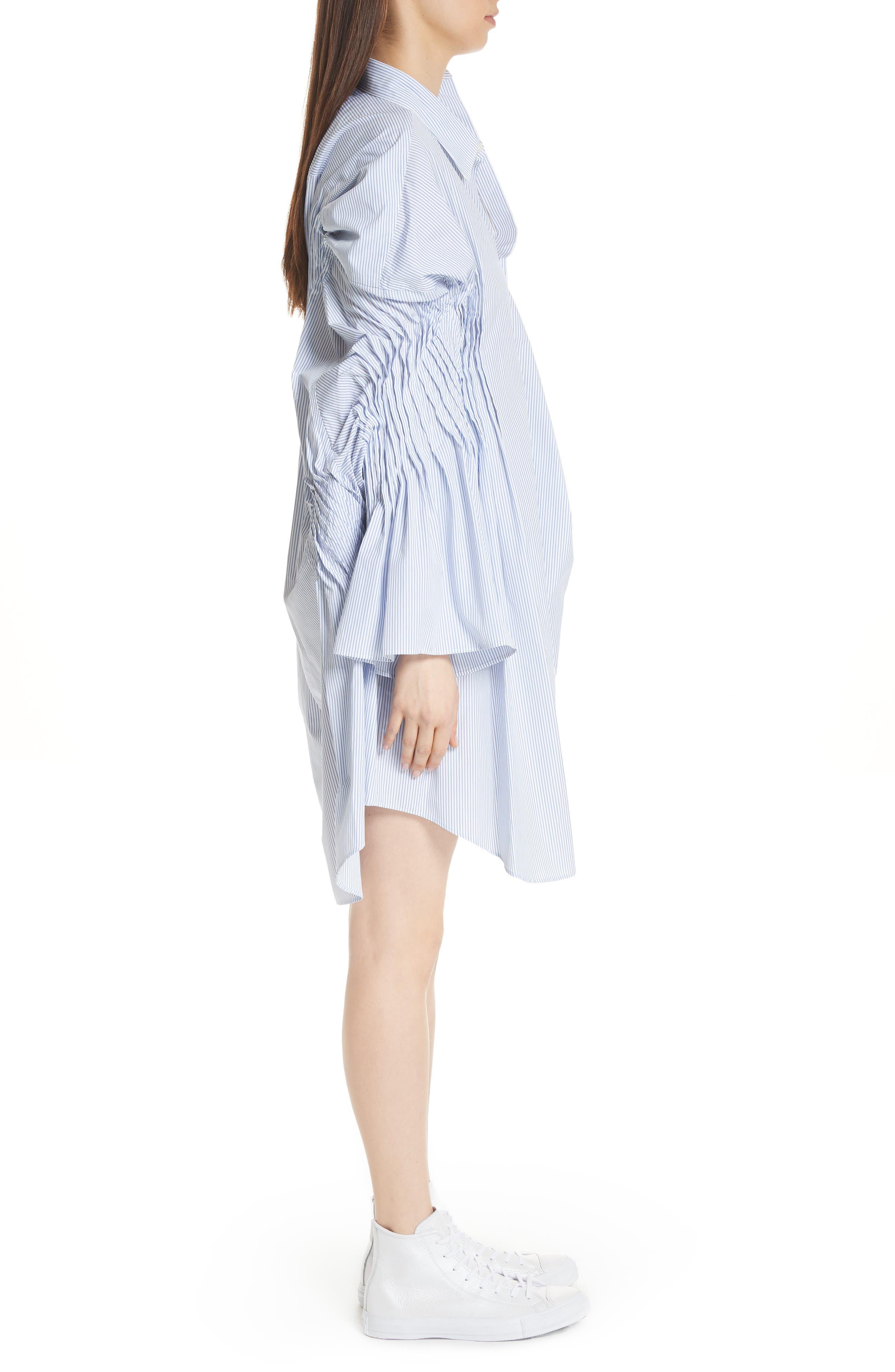 Asymmetrical Cotton Shirtdress,                             Alternate thumbnail 3, color,                             400