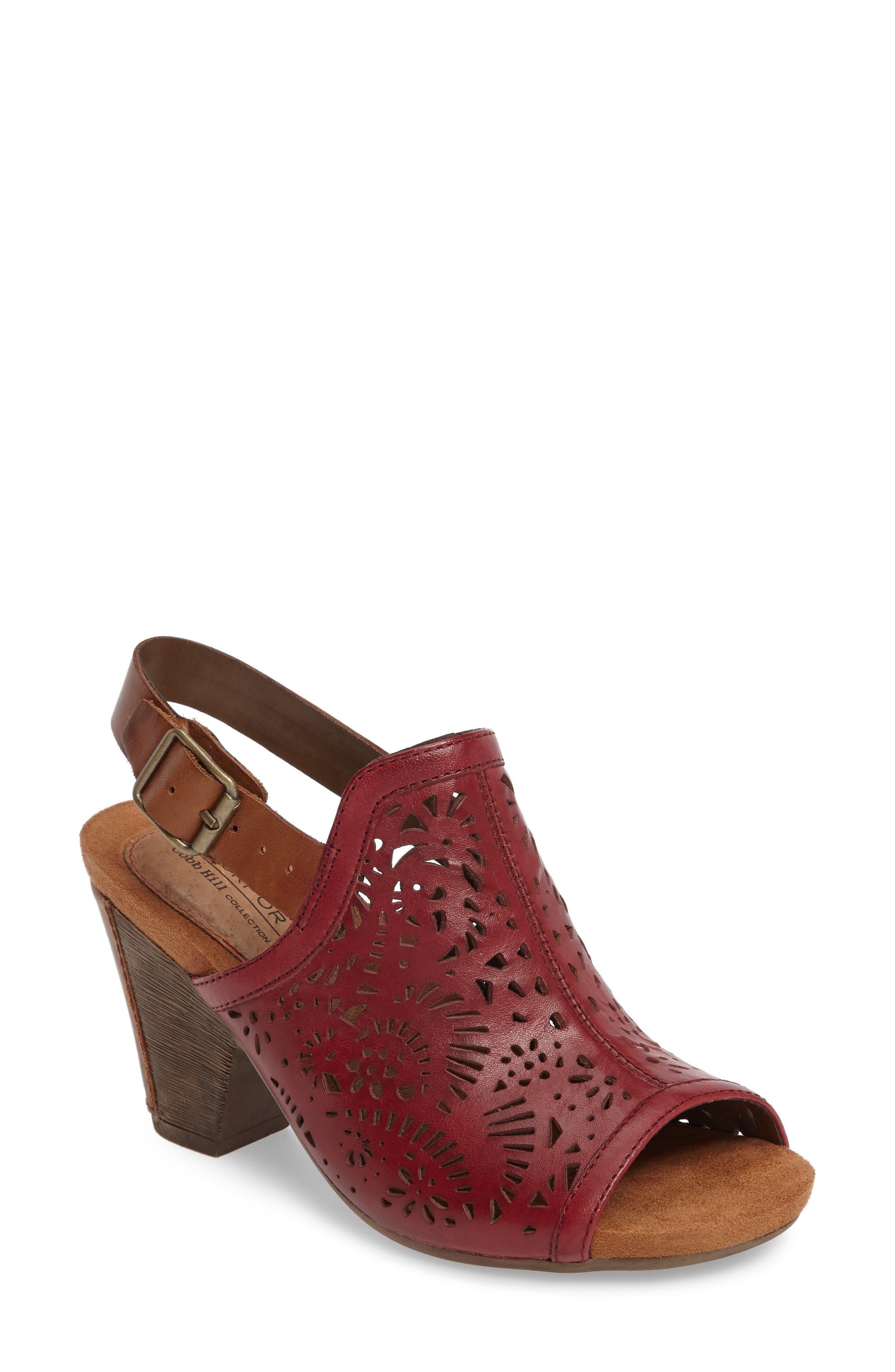 Tropez Block Heel Sandal,                             Main thumbnail 4, color,