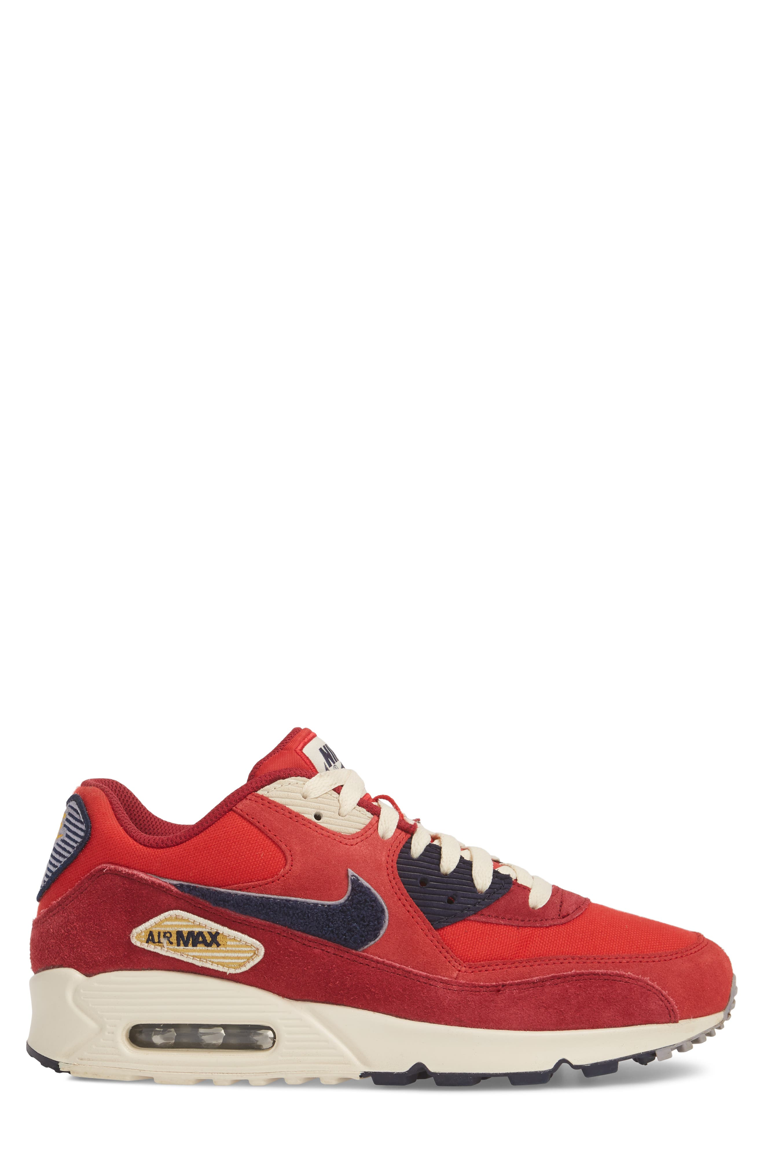 Air Max 90 Premium Sneaker,                             Alternate thumbnail 8, color,