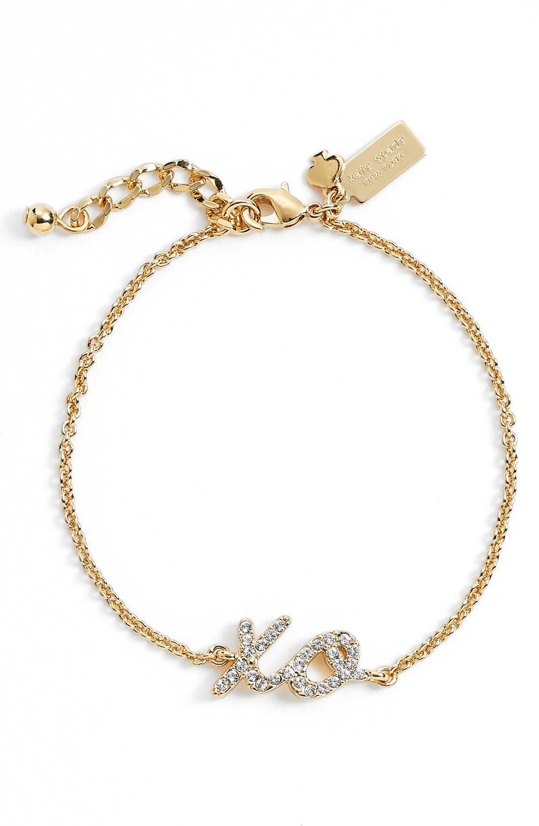 katespade new york'xo' bracelet,                             Main thumbnail 1, color,                             710