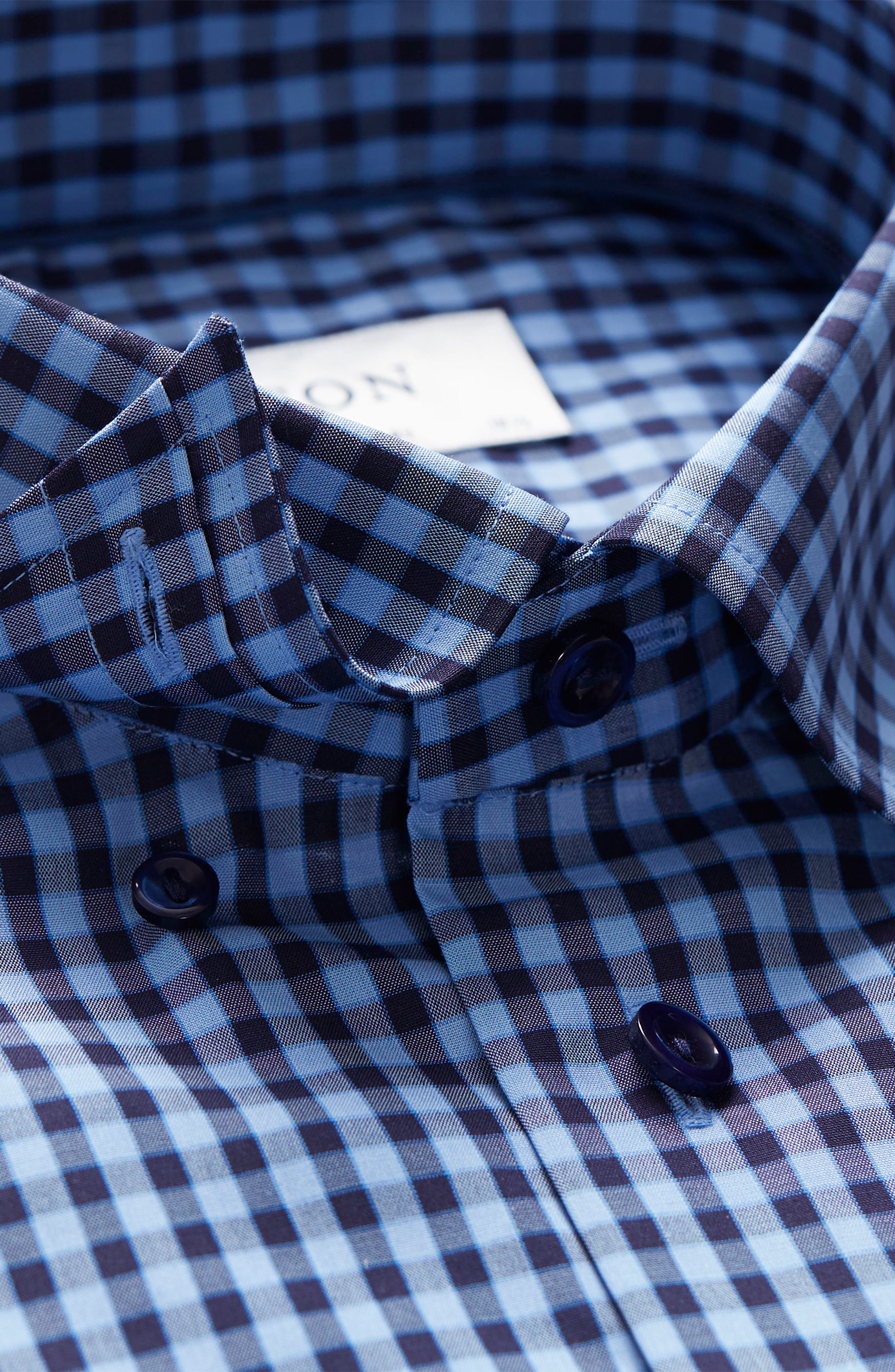 Contemporary Fit Check Dress Shirt,                             Alternate thumbnail 7, color,                             NAVY