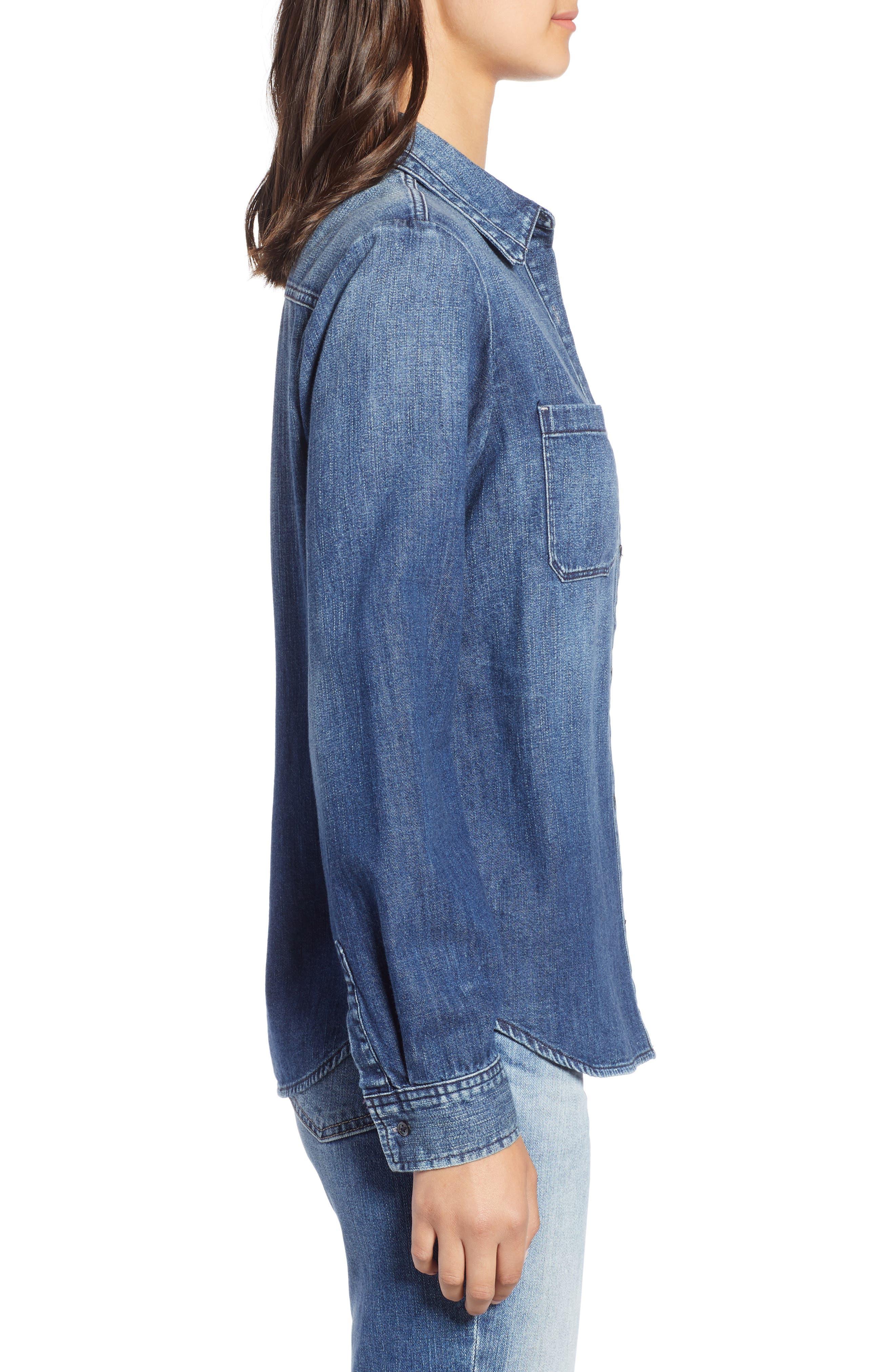 AG,                             Selena Chambray Shirt,                             Alternate thumbnail 3, color,                             283