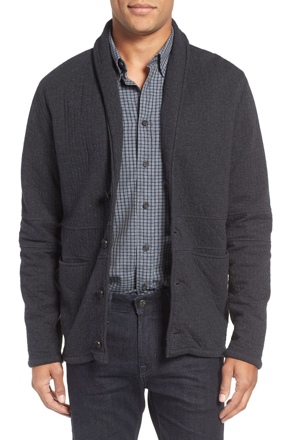 Quilted Shawl Collar Sweater,                         Main,                         color,