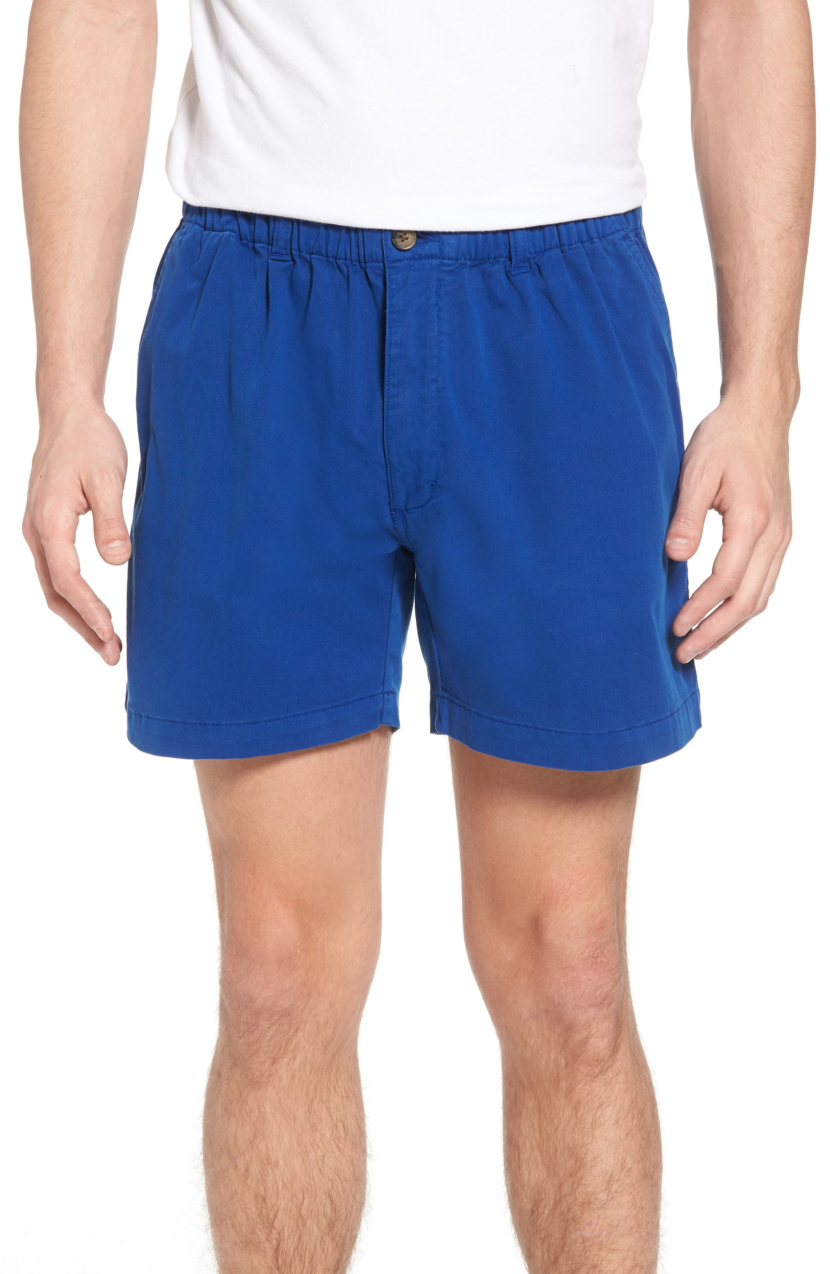 Snappers Elastic Waist 5.5 Inch Stretch Shorts,                             Main thumbnail 1, color,                             PREP BLUE