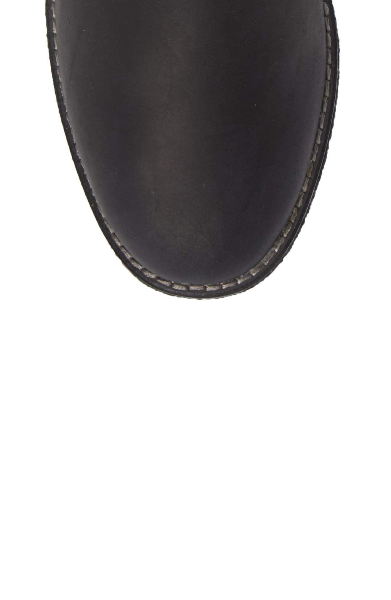 Maya Ronan Bootie,                             Alternate thumbnail 5, color,                             BLACK SUEDE/ LEATHER
