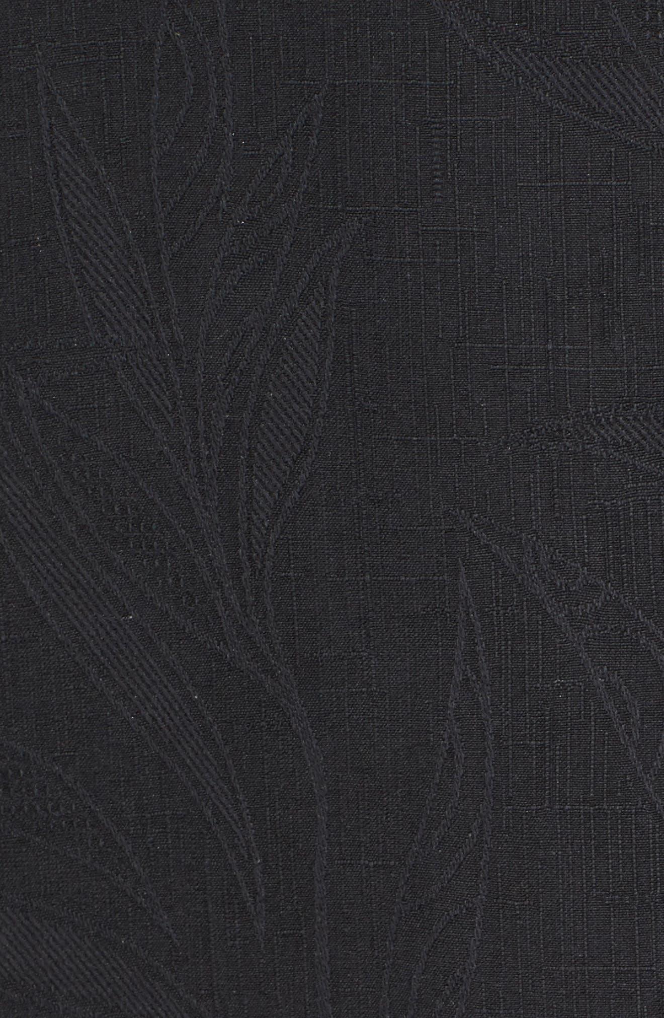 Islander Fronds Silk Camp Shirt,                             Alternate thumbnail 5, color,                             001