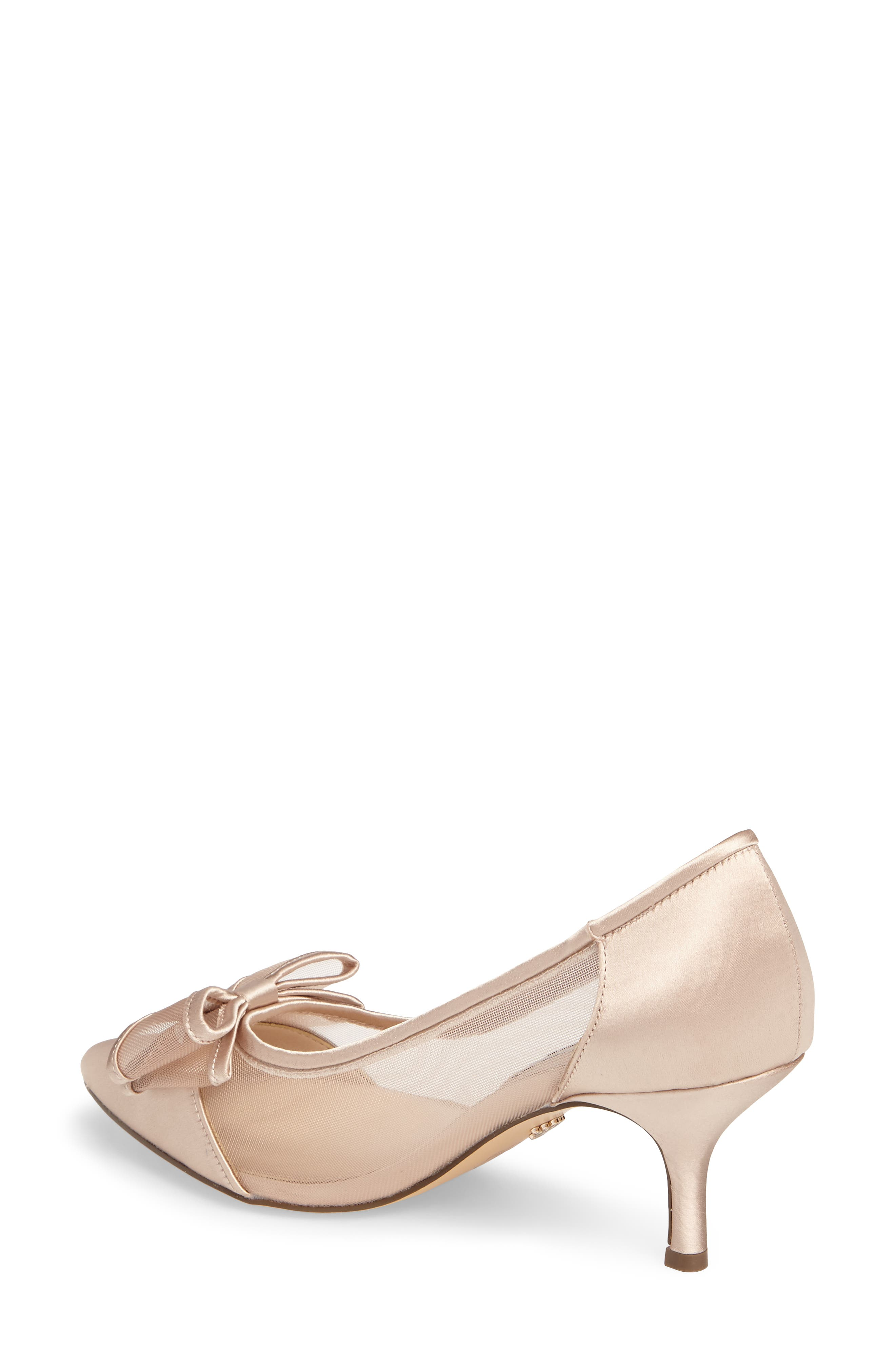 Bianca Pointy Toe Pump,                             Alternate thumbnail 2, color,                             CHAMPAGNE SATIN