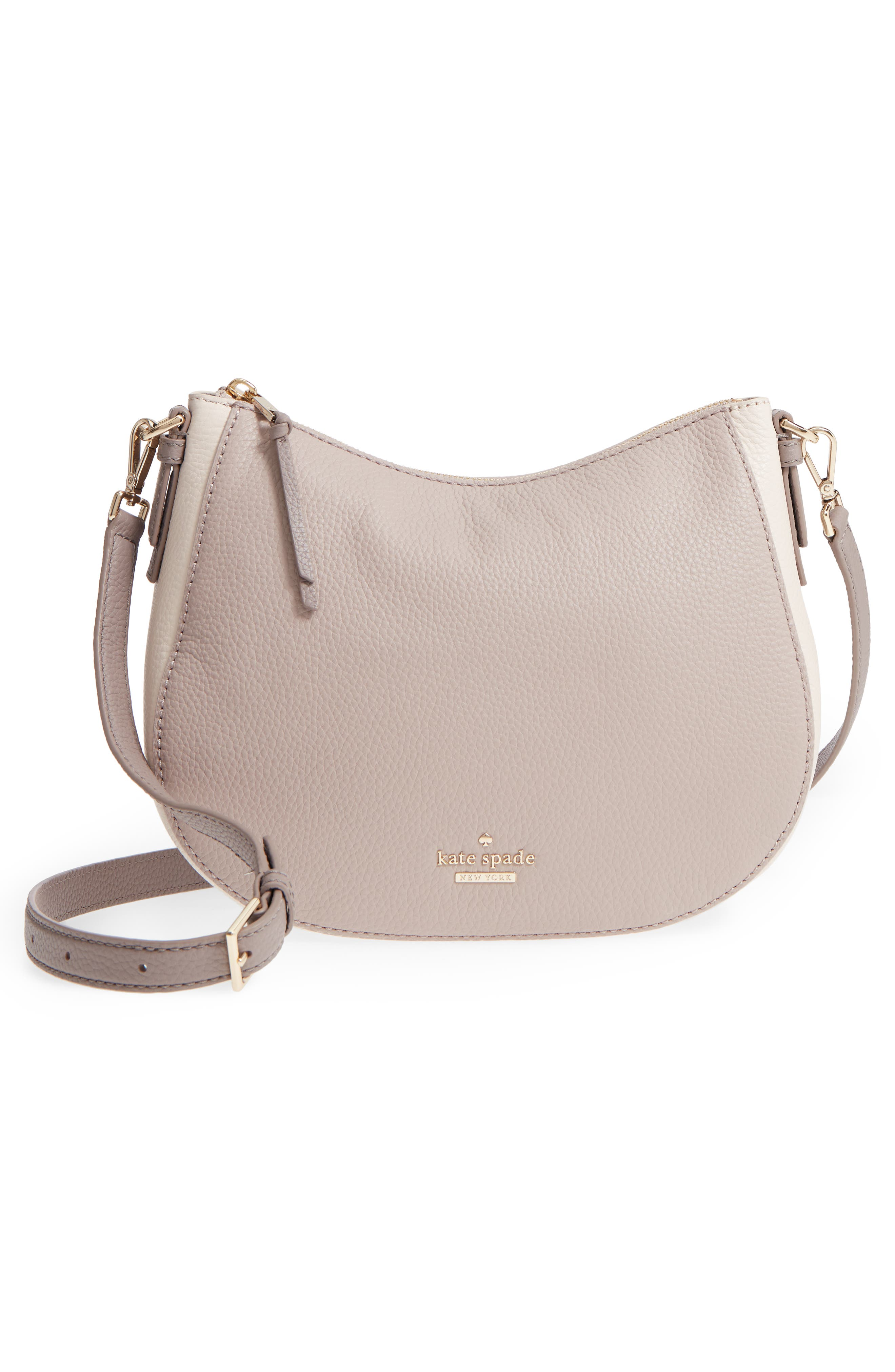 jackson street small mylie leather hobo,                             Alternate thumbnail 3, color,                             100