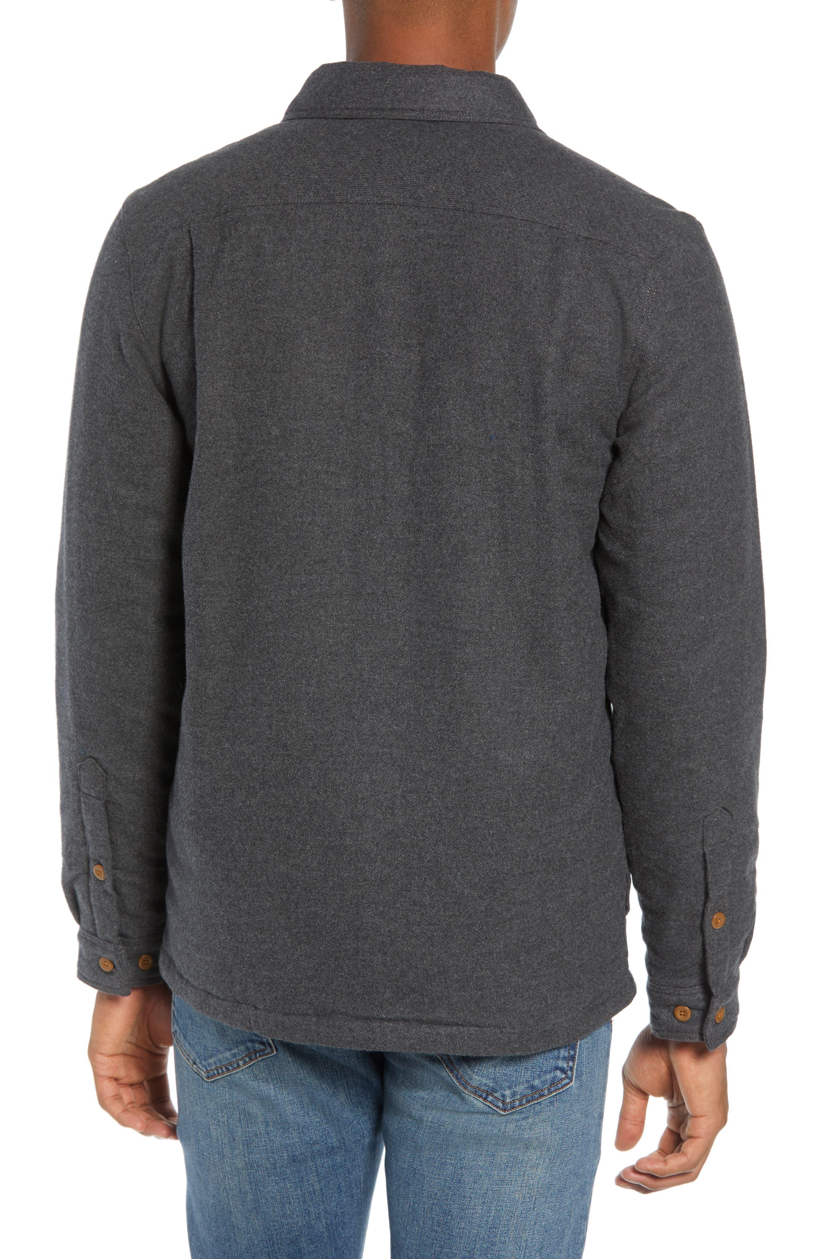 'Fjord' Flannel Shirt Jacket,                             Alternate thumbnail 2, color,                             FORGE GREY