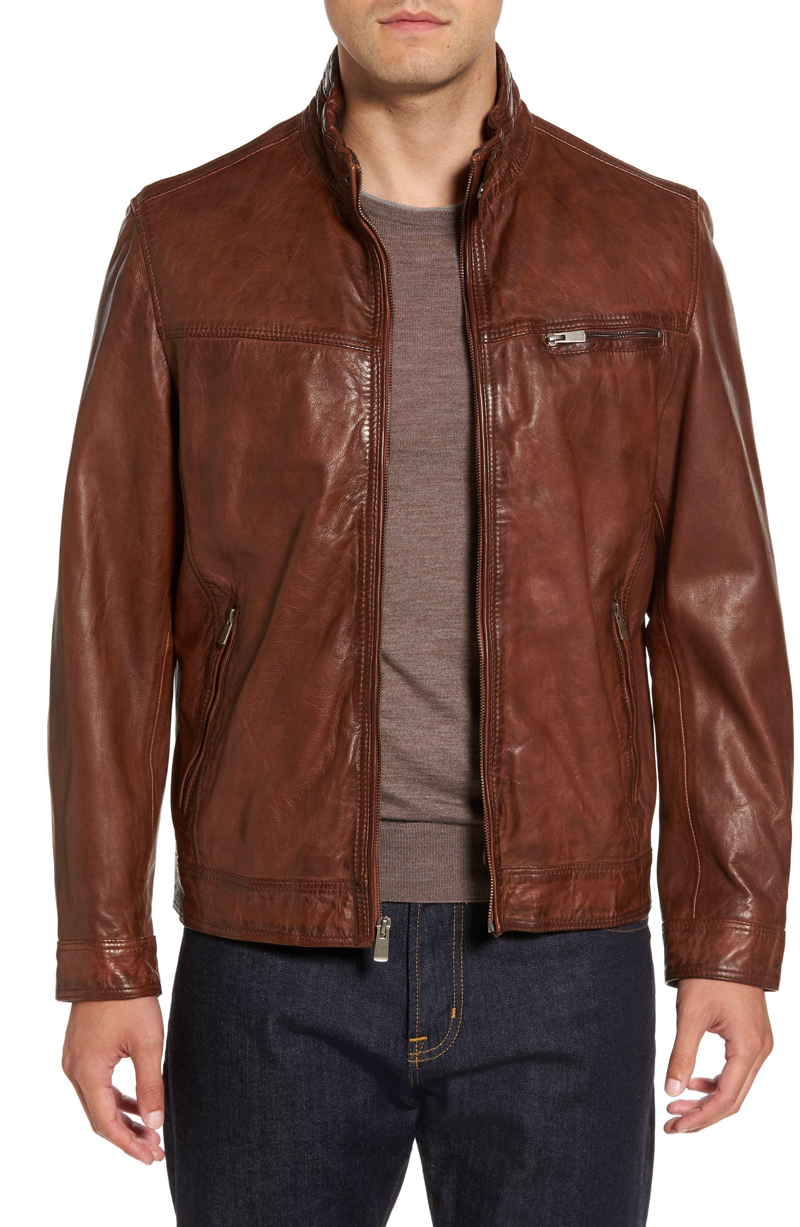 Leather Jacket,                             Main thumbnail 1, color,                             210